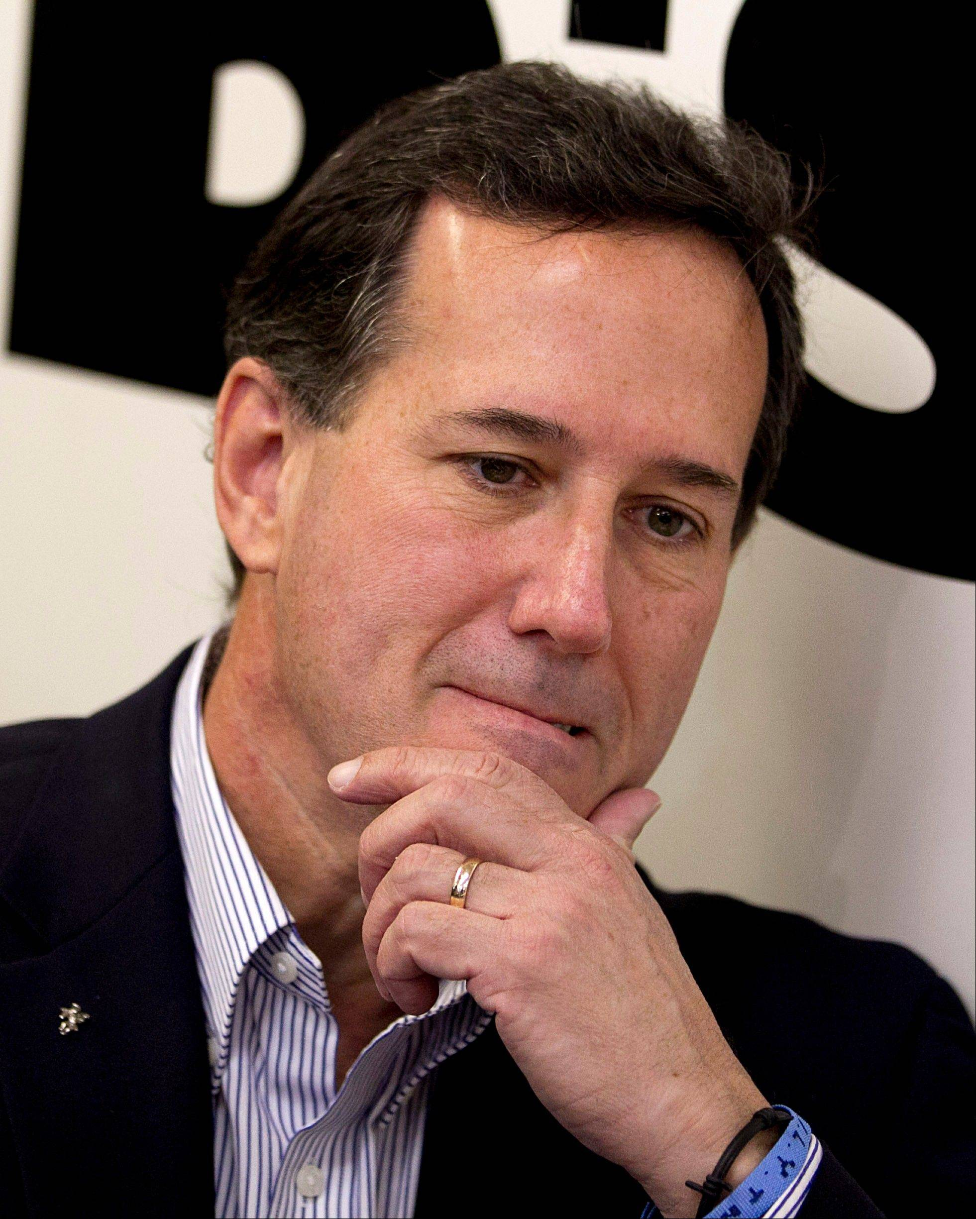 Santorum Illinois leaders: 'We earned the silver medal'