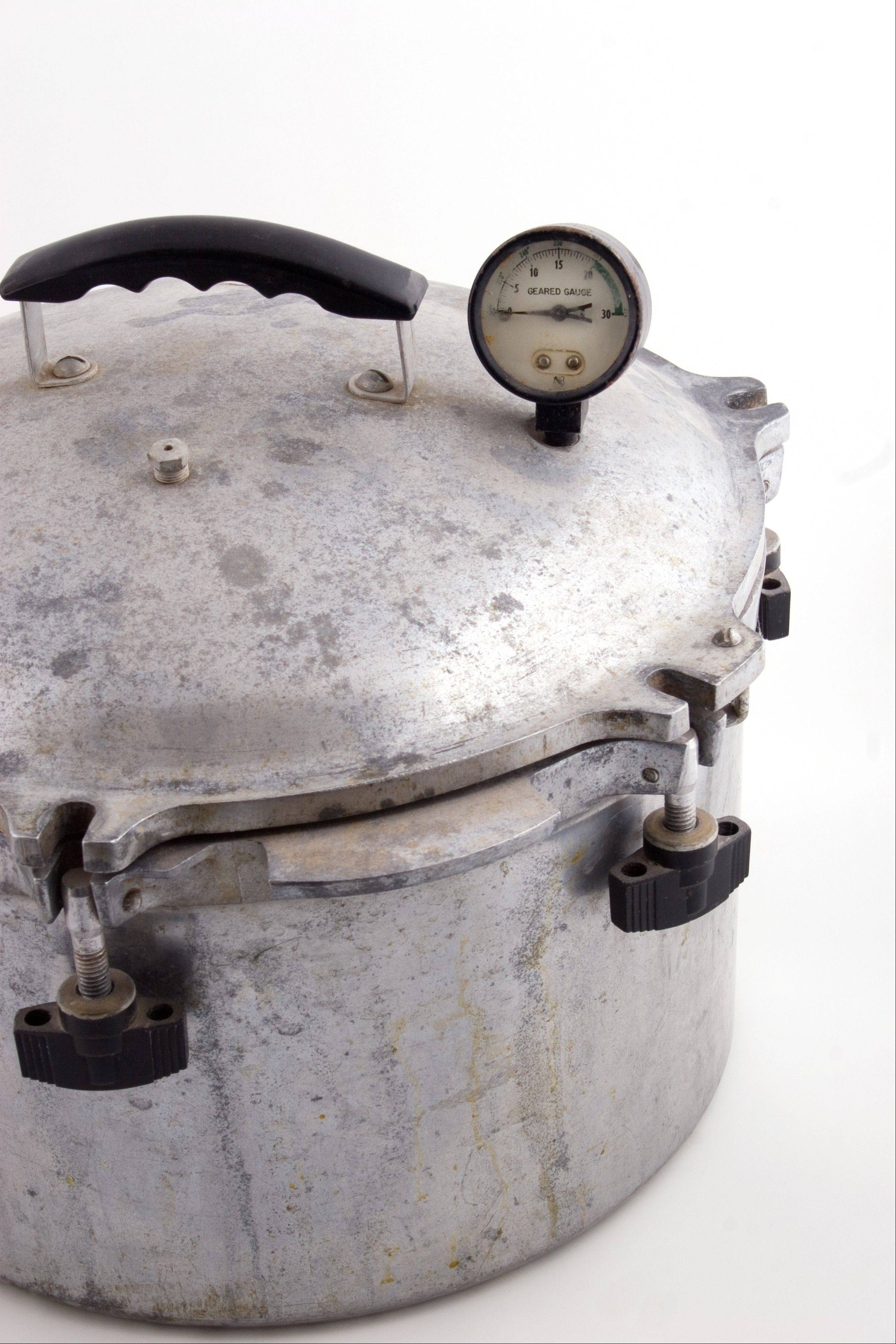 Don't be tempted to buy a late model pressure cooker at a garage sale or thrift shop. Today's cookers have better safety features.