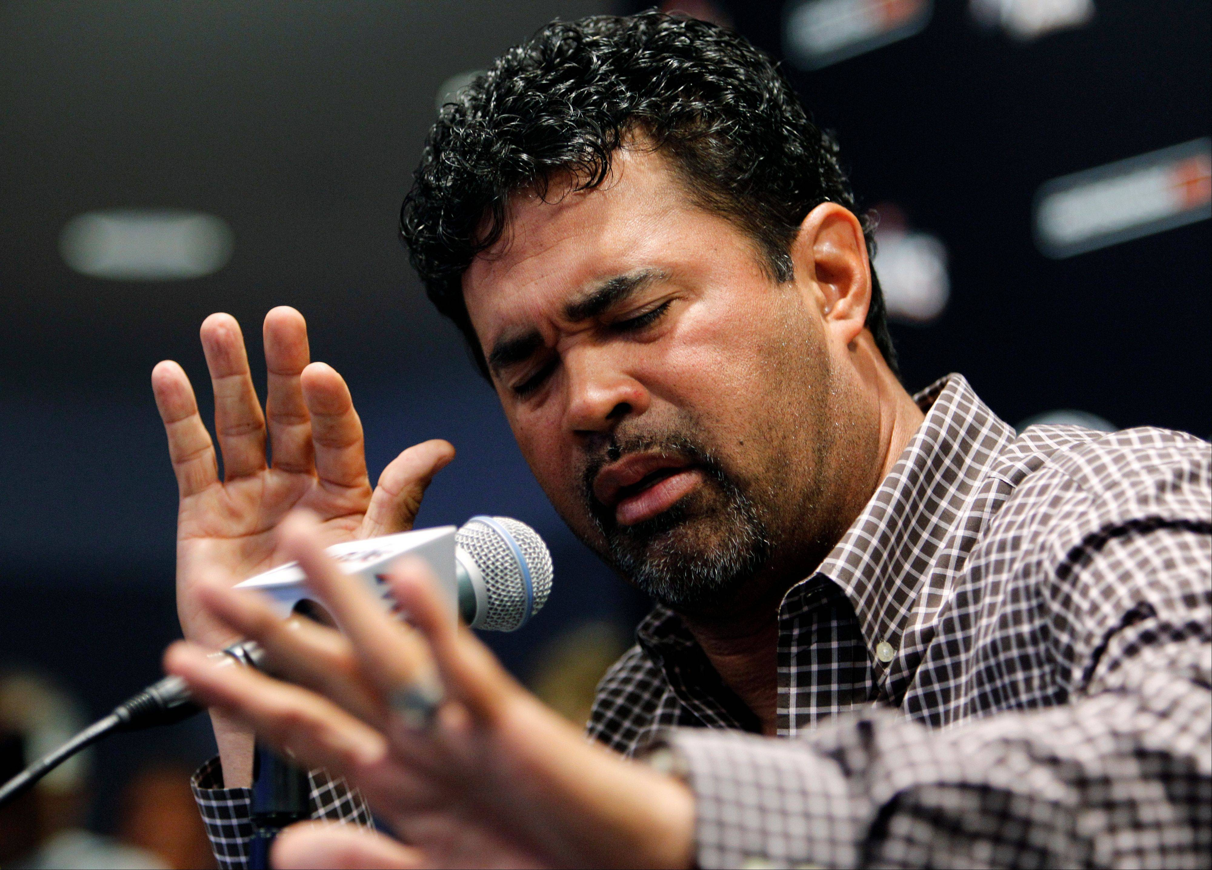 Miami Marlins manager Ozzie Guillen has been suspended for five games because of his comments about Fidel Castro. He has again apologized and says he accepts the punishment.