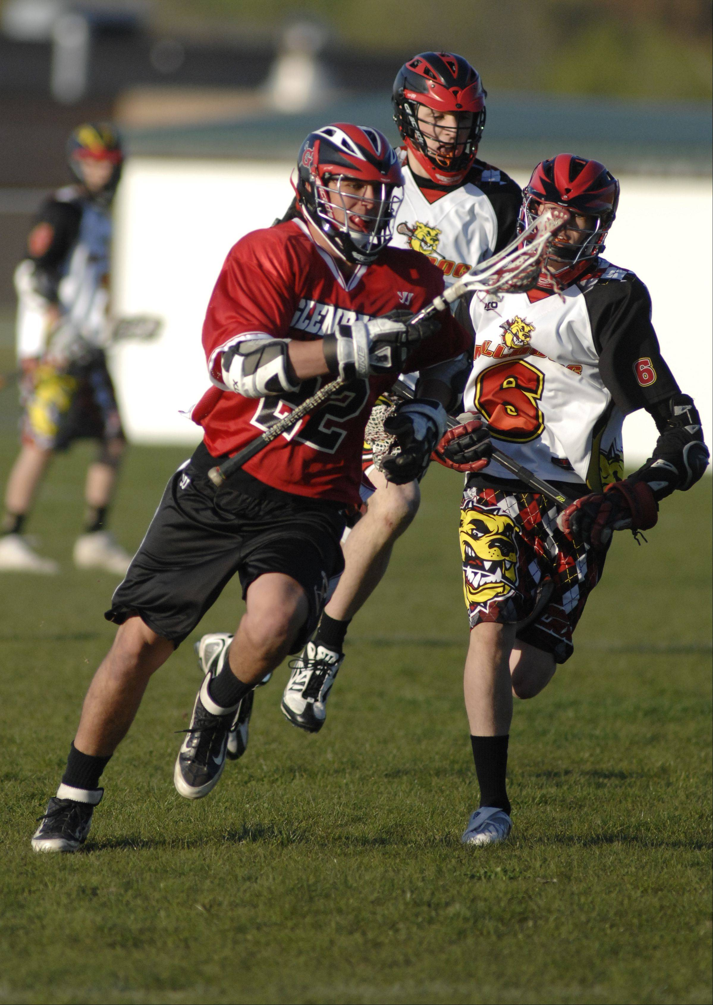 Images from the Batavia vs. Glenbard boys lacrosse match Wednesday, April 11, 2012.