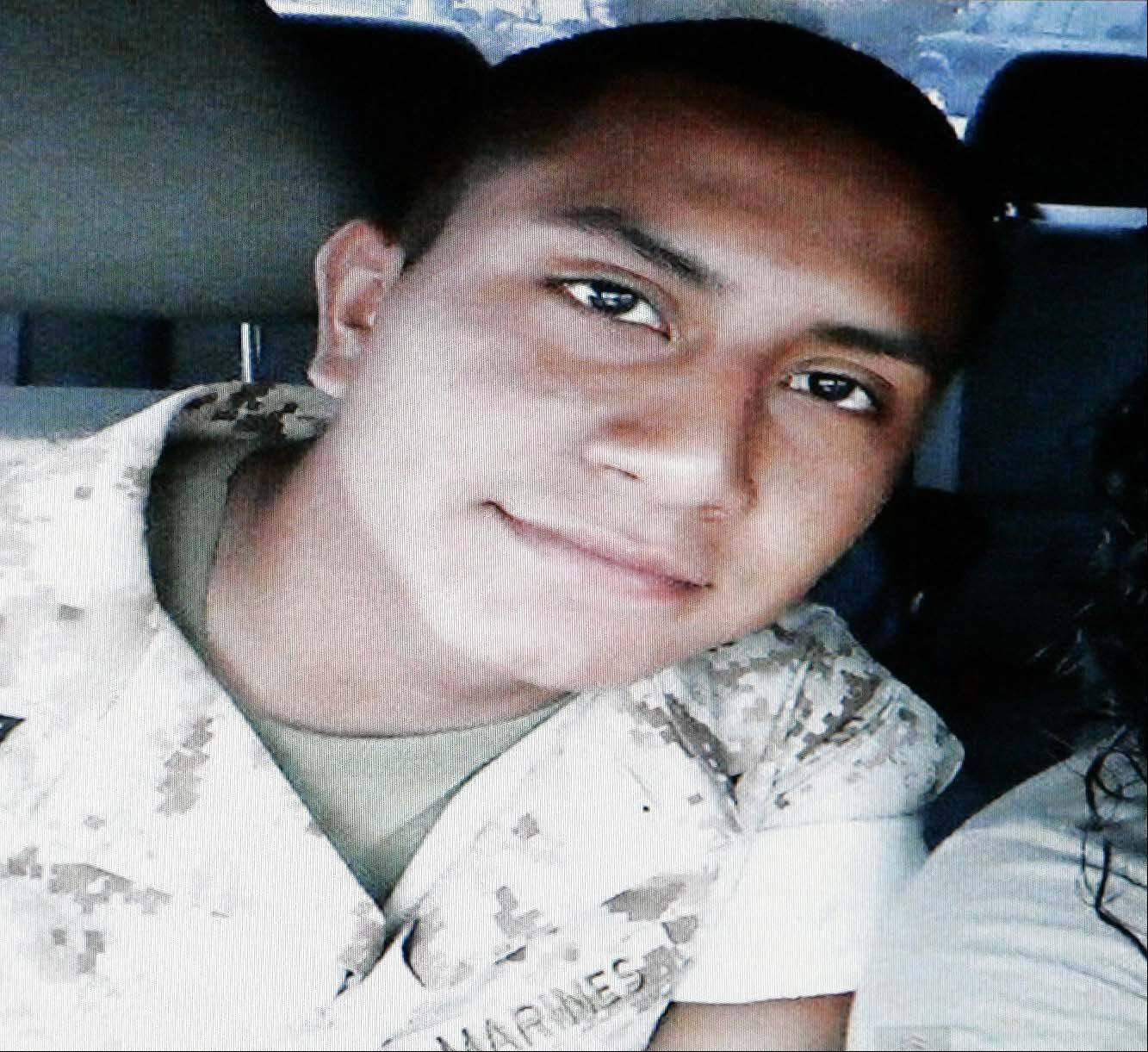 SUBMITTED PHOTOAlex Martinez, a Marine from Elgin who was killed last week in Afghanistan.