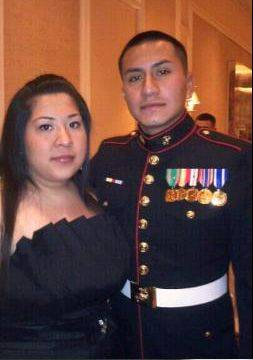 SUBMITTED PHOTOCpl. Alex Martinez, a Marine from Elgin who was killed in Afghanistan last week, is pictured with his wife Julianna. Both graduated from Larkin High School in Elgin.