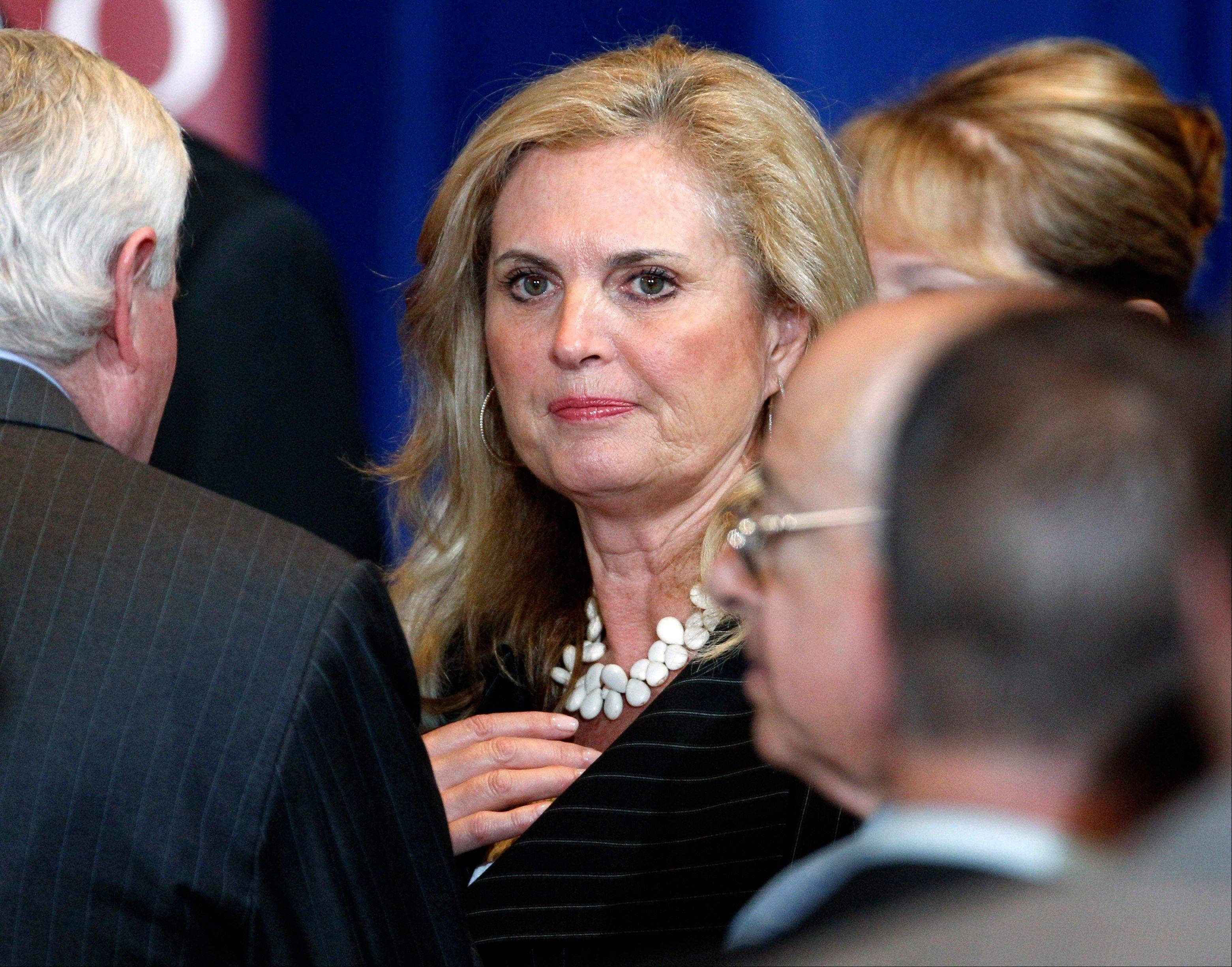 Ann Romney, wife of Republican presidential candidate, former Massachusetts Gov. Mitt Romney, is firing back at a Democratic consultant who is suggesting that the wife of wealthy presidential candidate Mitt shouldn't be talking about the economy's toll on women.