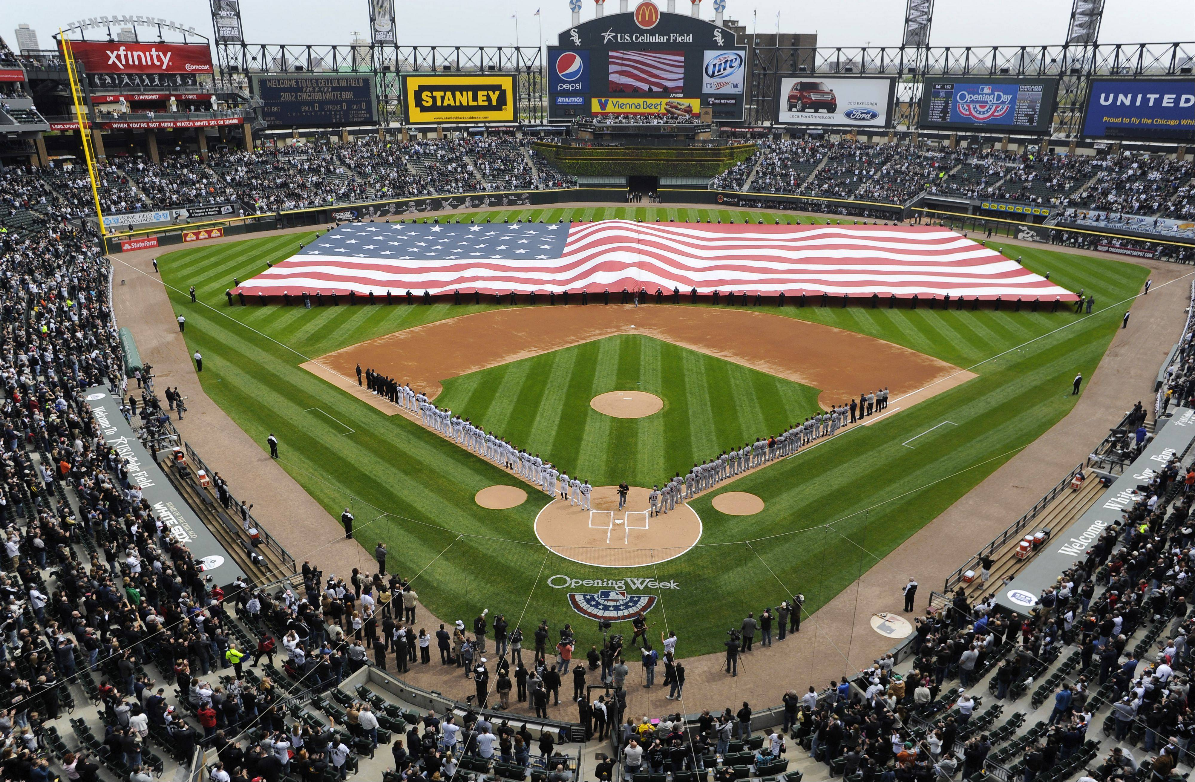 White Sox opening day against the Tigers.