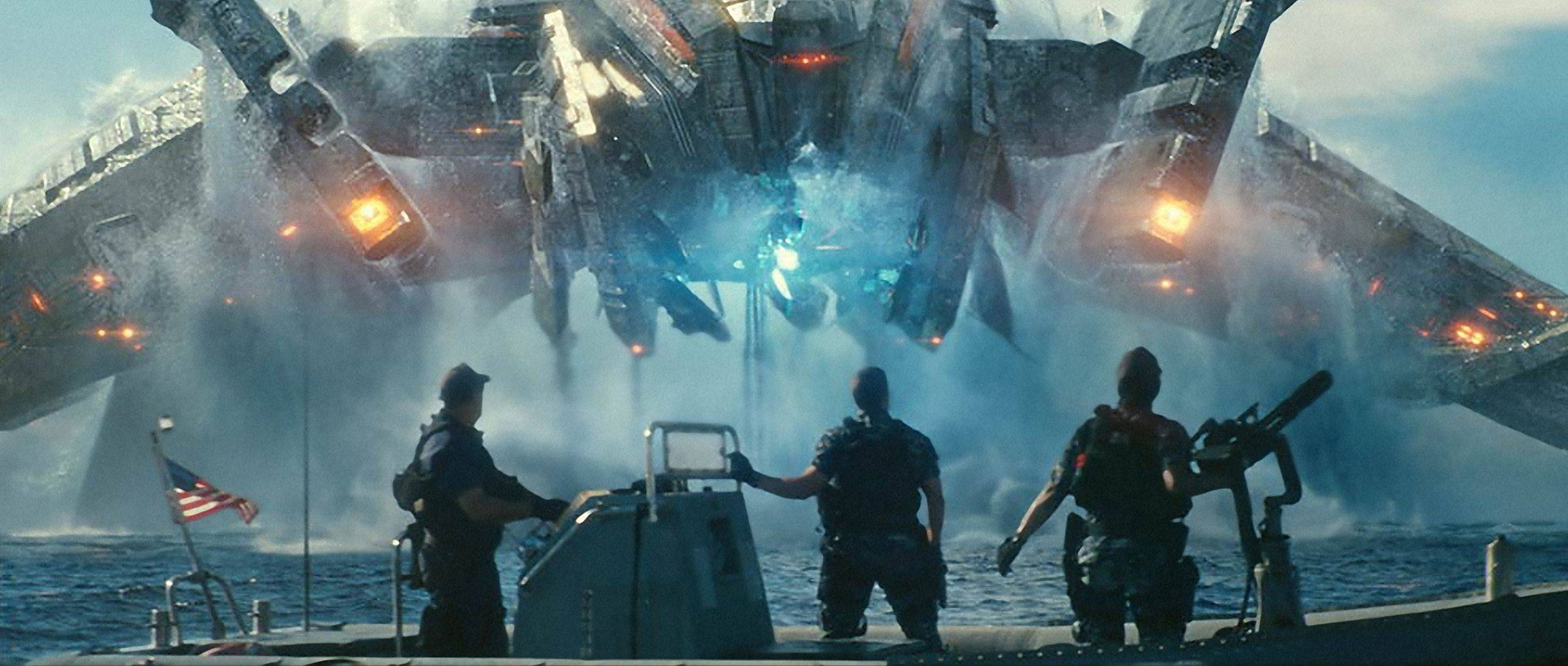 "In this film publicity image released by Universal Pictures, from left, John Tui, Taylor Kitsch and Rihanna are shown in a scene from ""Battleship."""