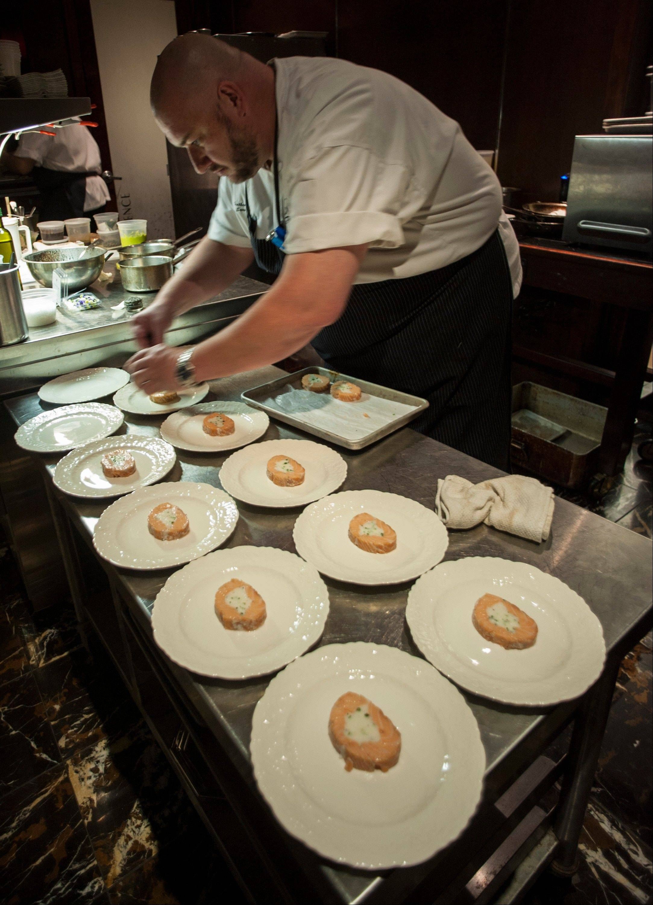 Sous Chef Bruce Trathen Puts The Final Touches On The Second Course Sa Ay In Houston During
