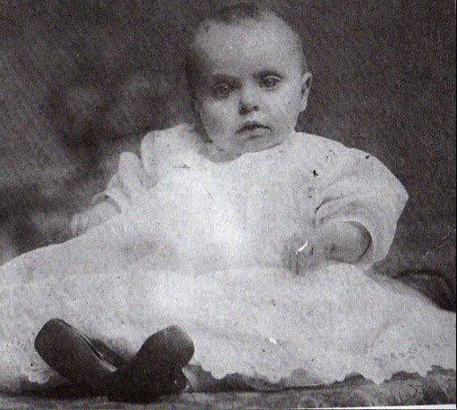 Eleanor Johnson is pictured in Finland for her 1-year-old portrait. Alice Johnson sent this portrait of her daughter home to St. Charles to her husband Oscar. Alice and Eleanor, along with Harold, survived the sinking of the Titanic on April 15, 1912.