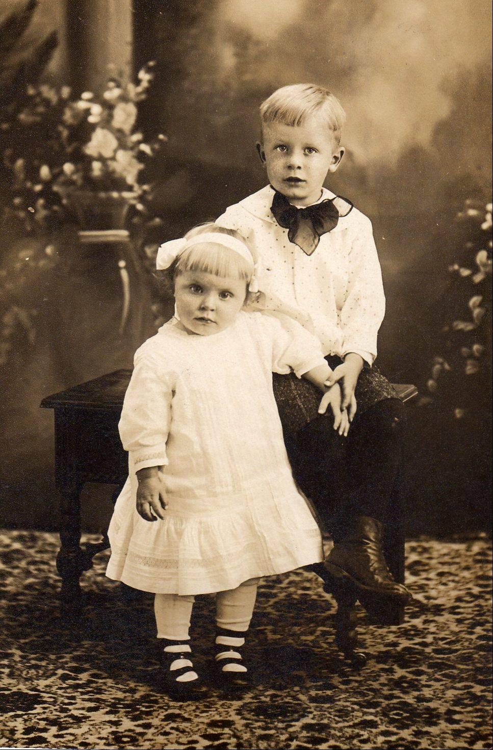 Eleanor Johnson and her brother Harold of St. Charles are pictured soon after they survived the sinking of the Titanic.