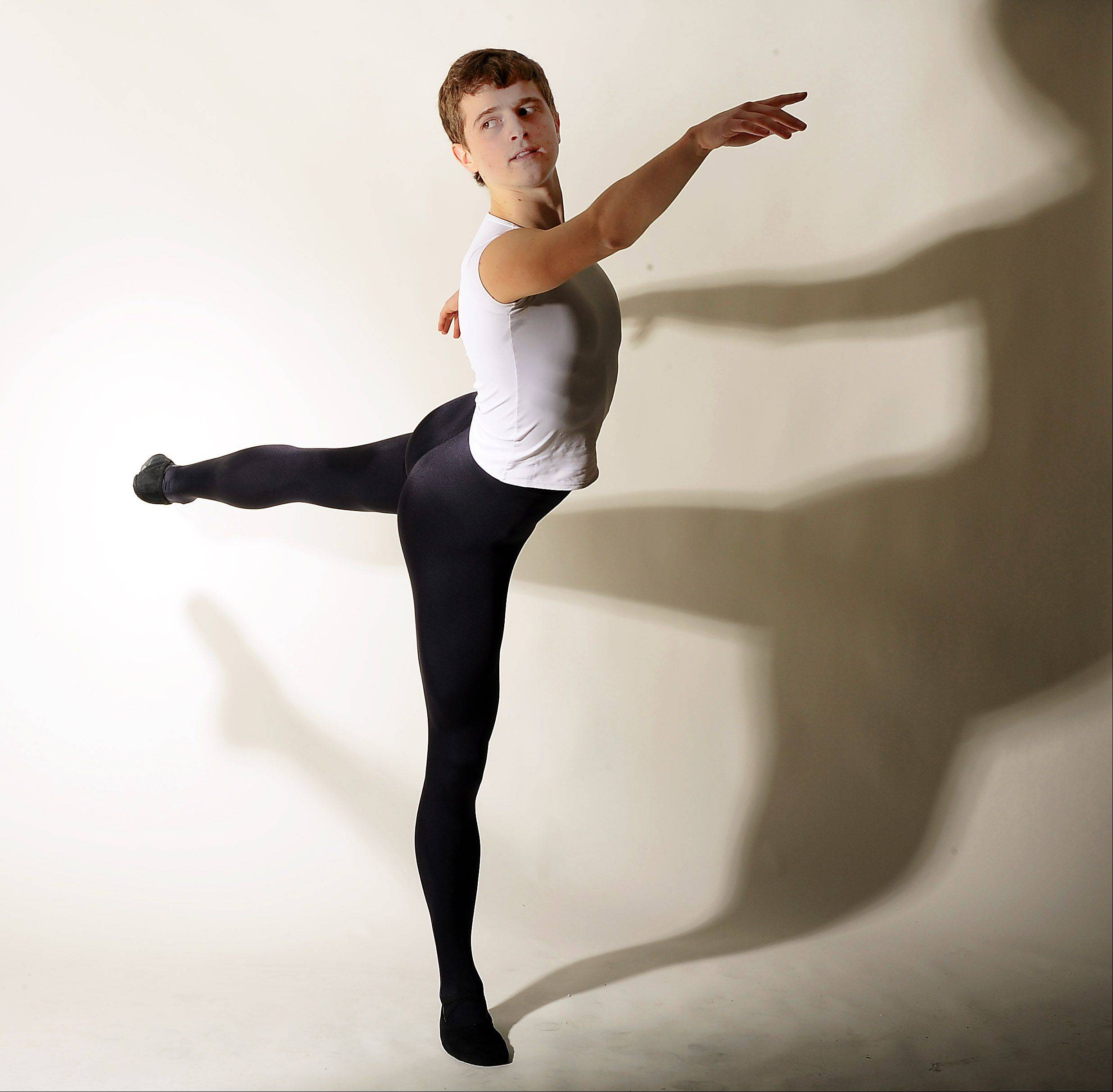 Arthur Stashak of Des Plaines is one of the best young male ballet dancers and is attending Canada's School of Ballet.