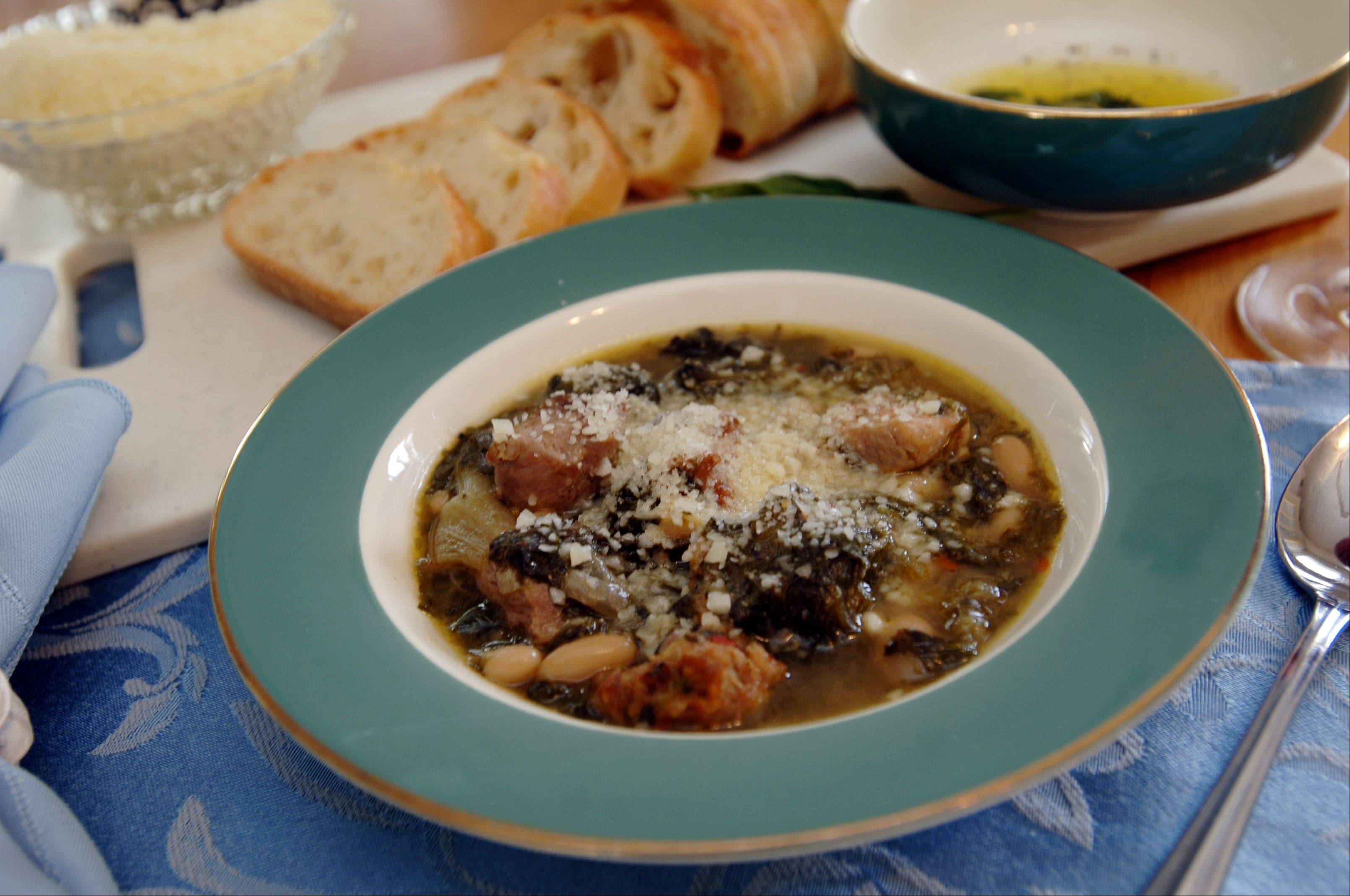 Escarole and bean soup has been a favorite of Patrice Marotta since she was a child.