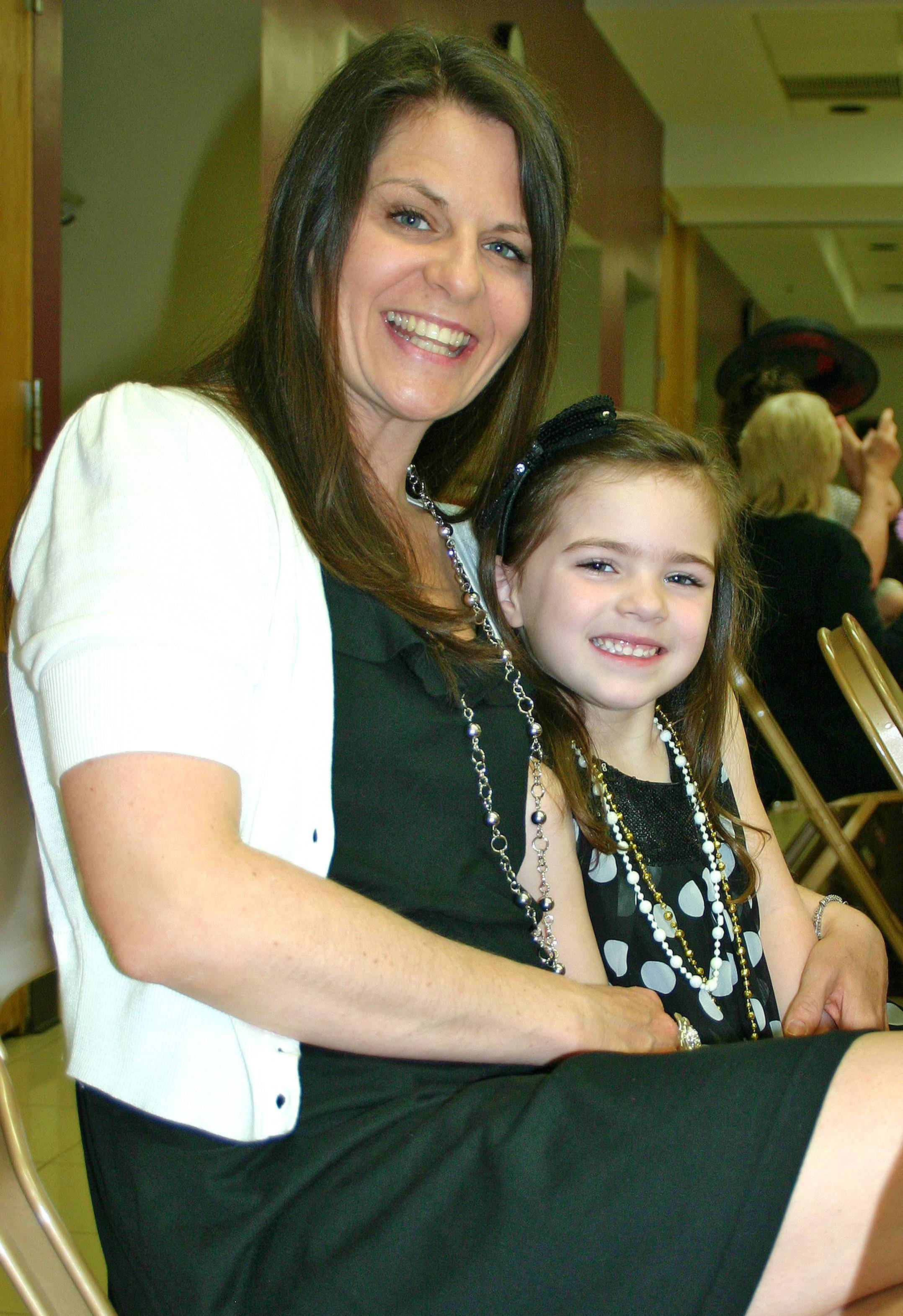 Samantha Noto, 4, and her Mom, Amy, are all smiles at the 8th annual Des Plaines Park District Mother Daughter Tea on April 14, 2012.