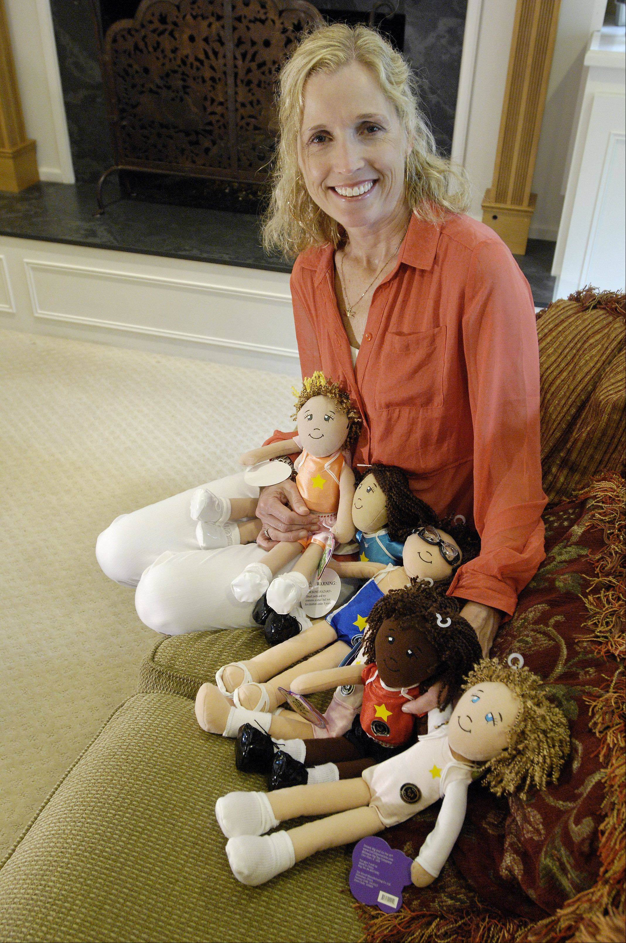 Jodi Norgaard of Glen Ellyn is the creator of sports themed plush dolls called Go! Go! Sports Girls that are intended to promote a healthy self-image for girls.