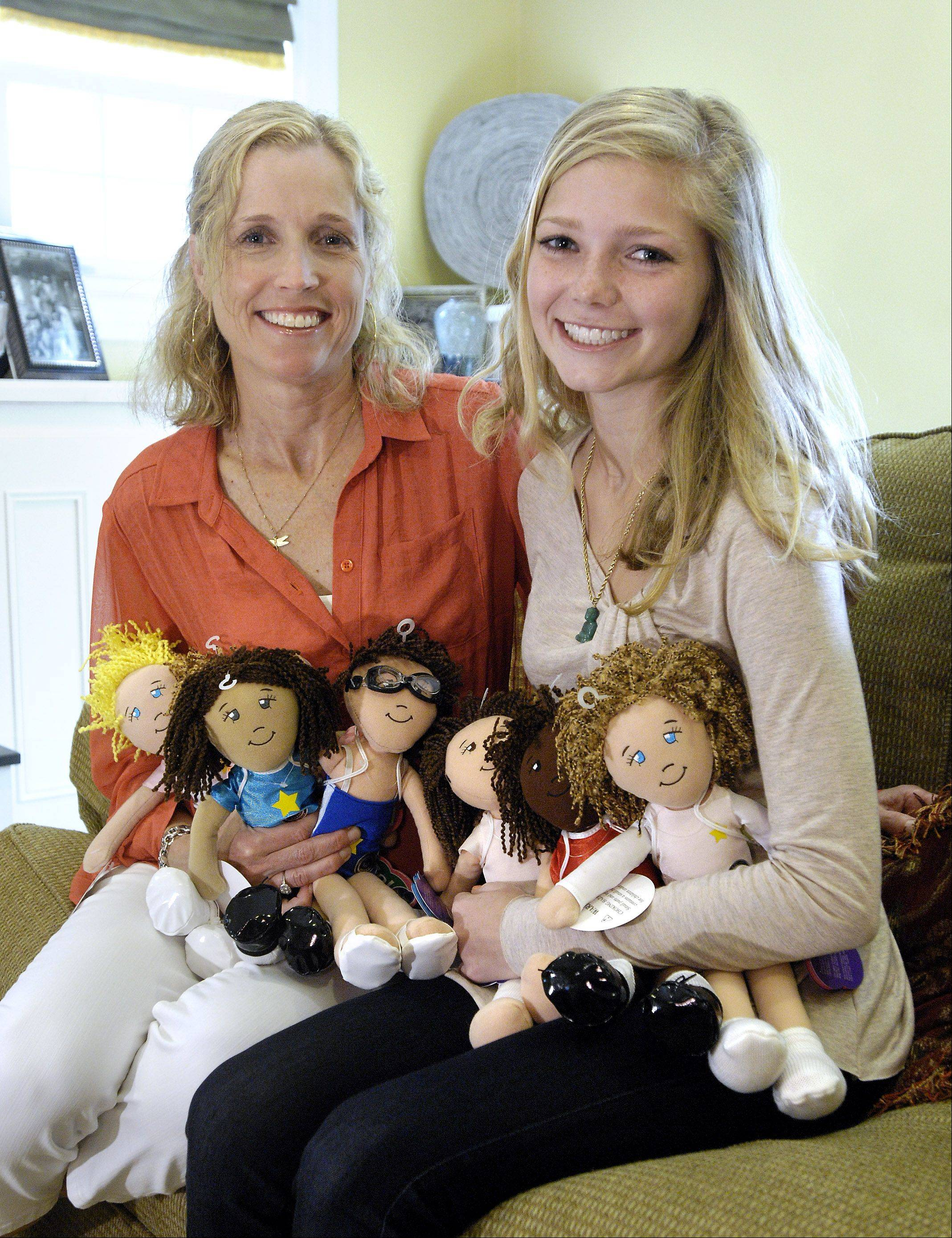Jodi Norgaard of Glen Ellyn is the creator of sports themed plush dolls called Go! Go! Sports Girls that are intended to promote a healthy self-image for girls. Her daughter, Grace, now 15, served as a consultant when her mom started designing the dolls six years ago.