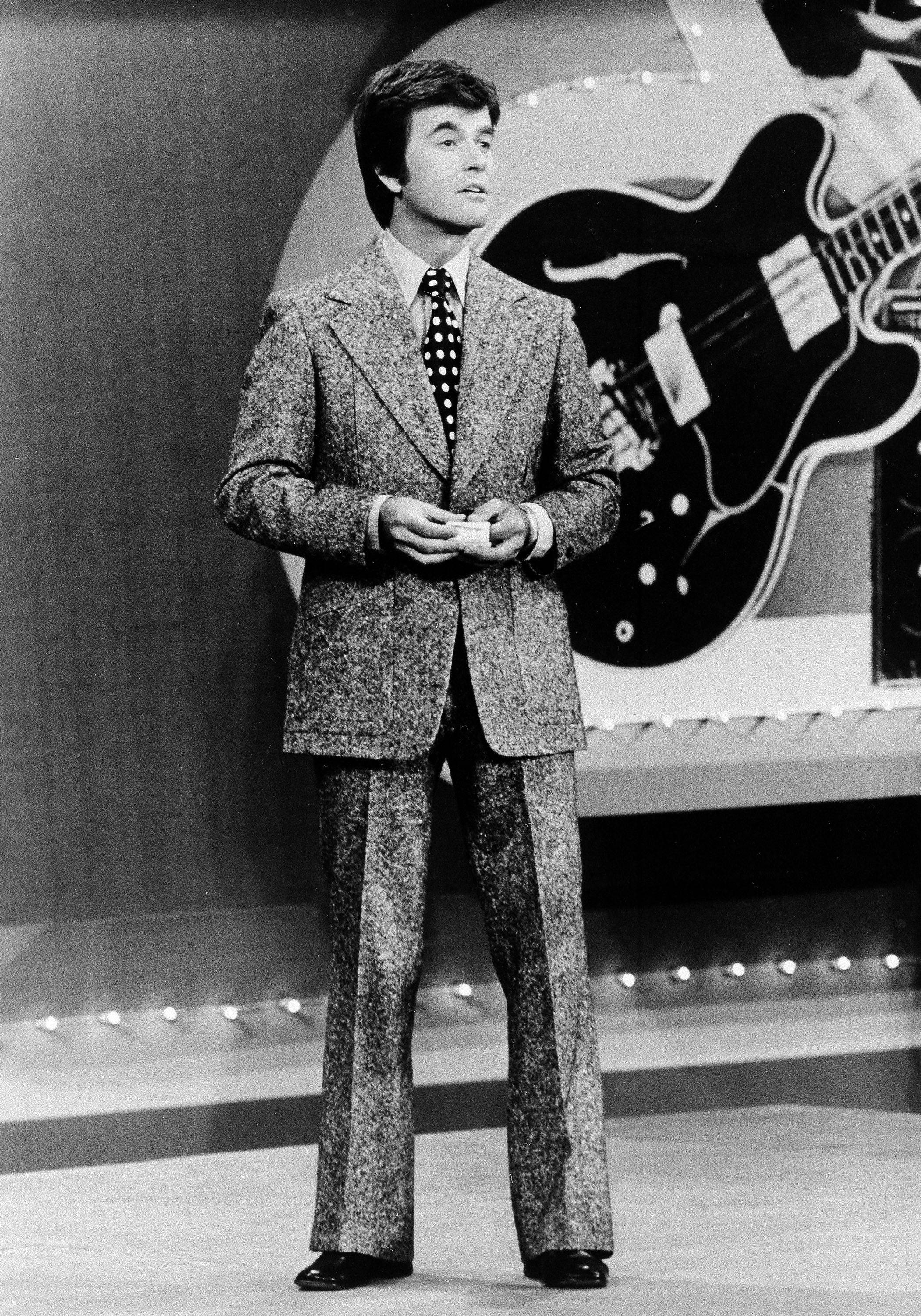 In this 1973 file photo released by ABC, Dick Clark presents the Rock and Roll Year- a musical portrait of the 1950s and 1960s on the ABC television network in a series of five specials.