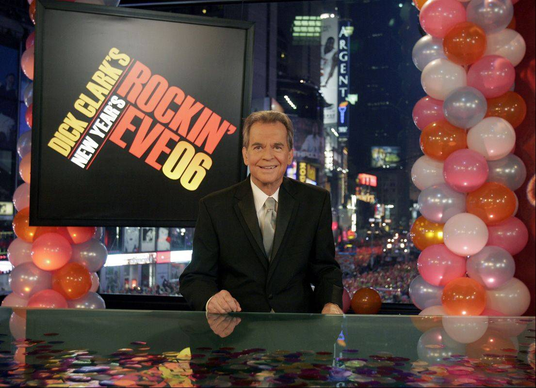 "This photo provided by ABC Jan. 1, 2006 shows Dick Clark _ the personality who's been ringing in the New Year for decades making his first television appearance since a stroke in late 2004 Saturday Dec. 31, 2005 during ABC's broadcast of the festivities in New York's Times Square to ring in the New Year 2006. Clark sounded hoarse and occasionally was hard to understand, but he said, ""I wouldn't have missed this for the world."""