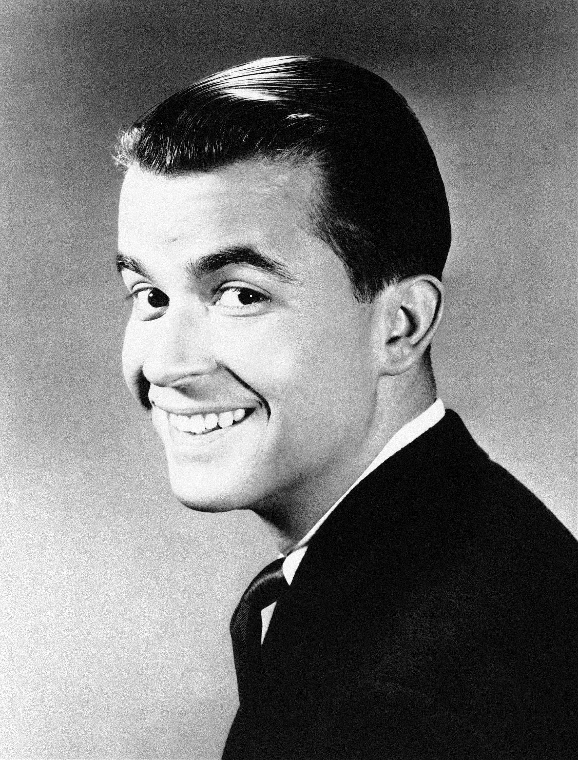 "Dick Clark, shown July 1,1960, hosts ""The Dick Clark Show"" and ""American Bandstand"" both featuring the most popular pop music, songs and stars."