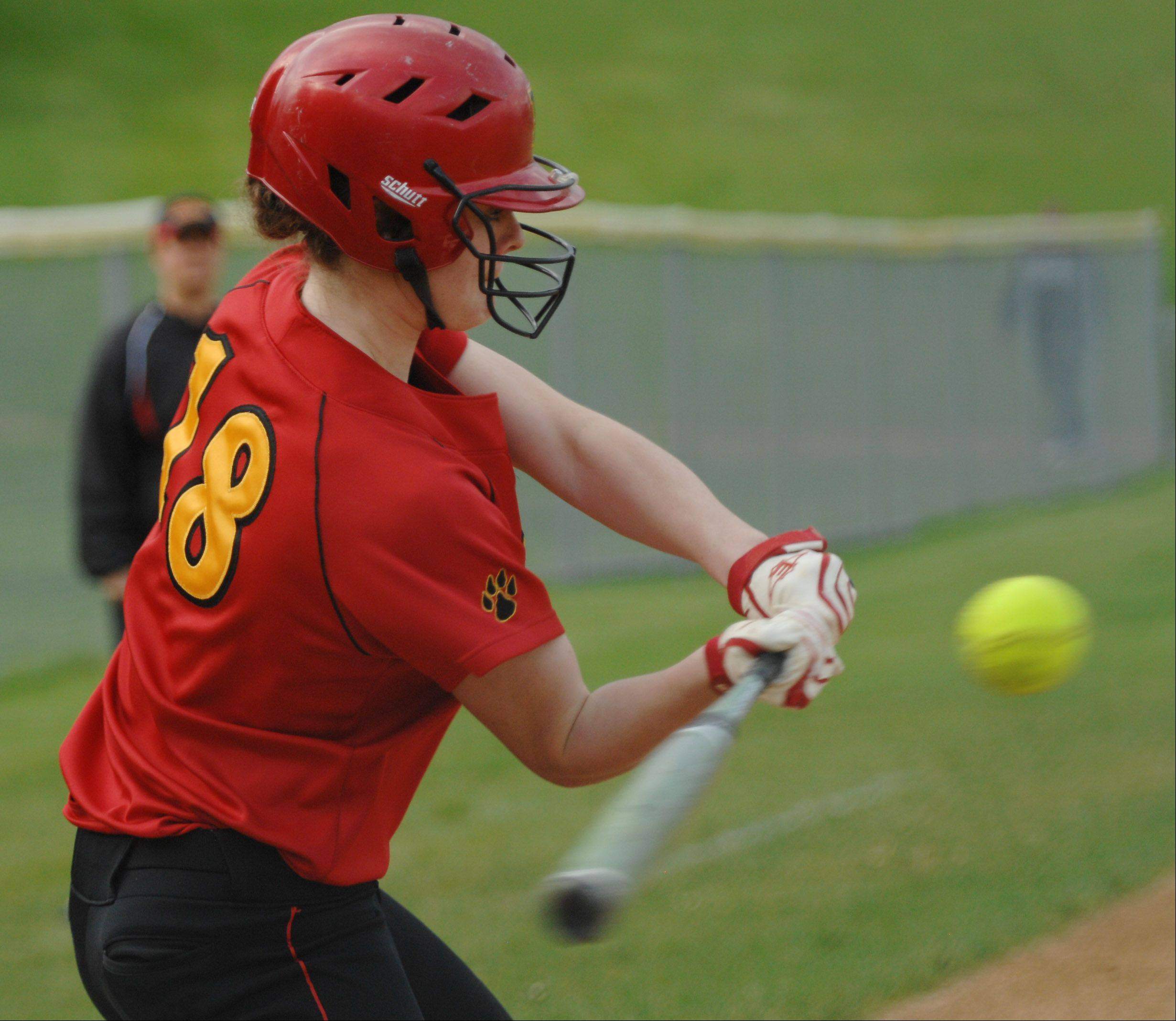 Batavia's Katie Ryan was one of 15 batters to strike out against Elgin's Hannah Perryman Wednesday in Elgin.