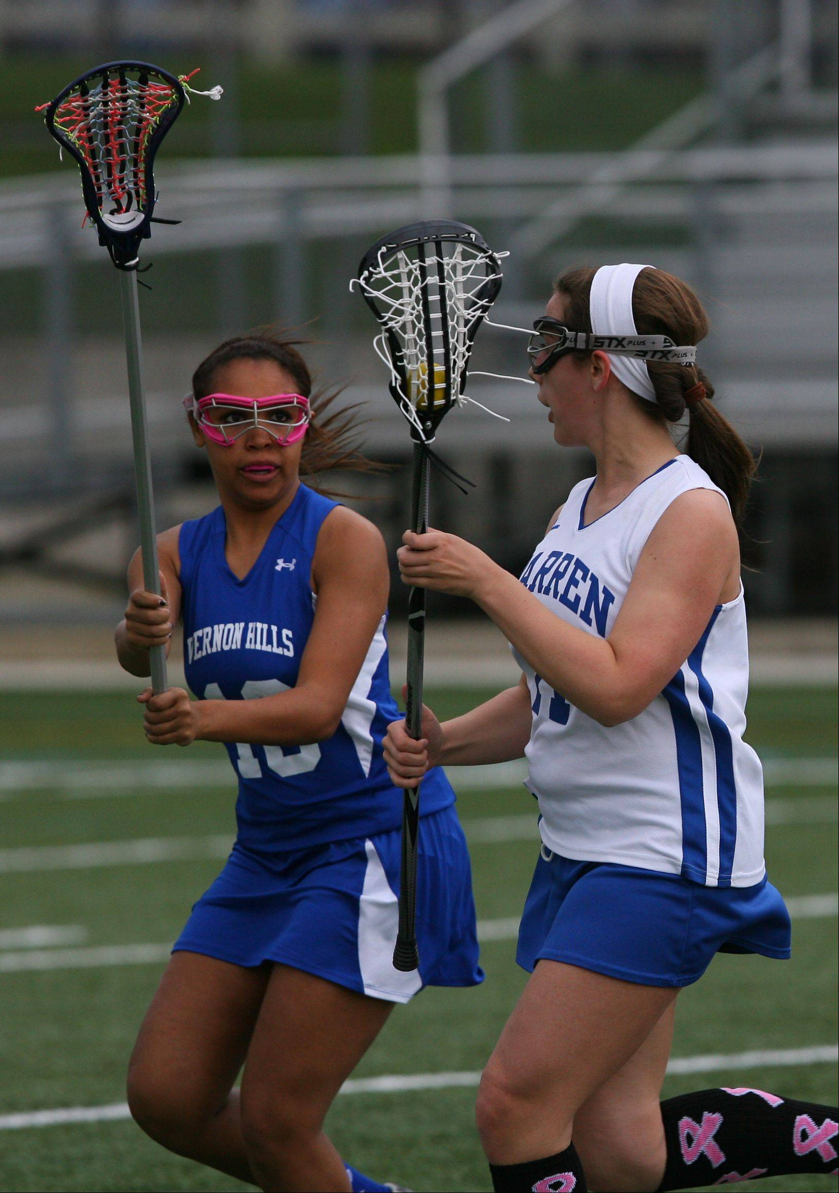 Images from the Vernon Hills at Warren girls lacrosse game Wednesday, April 18.