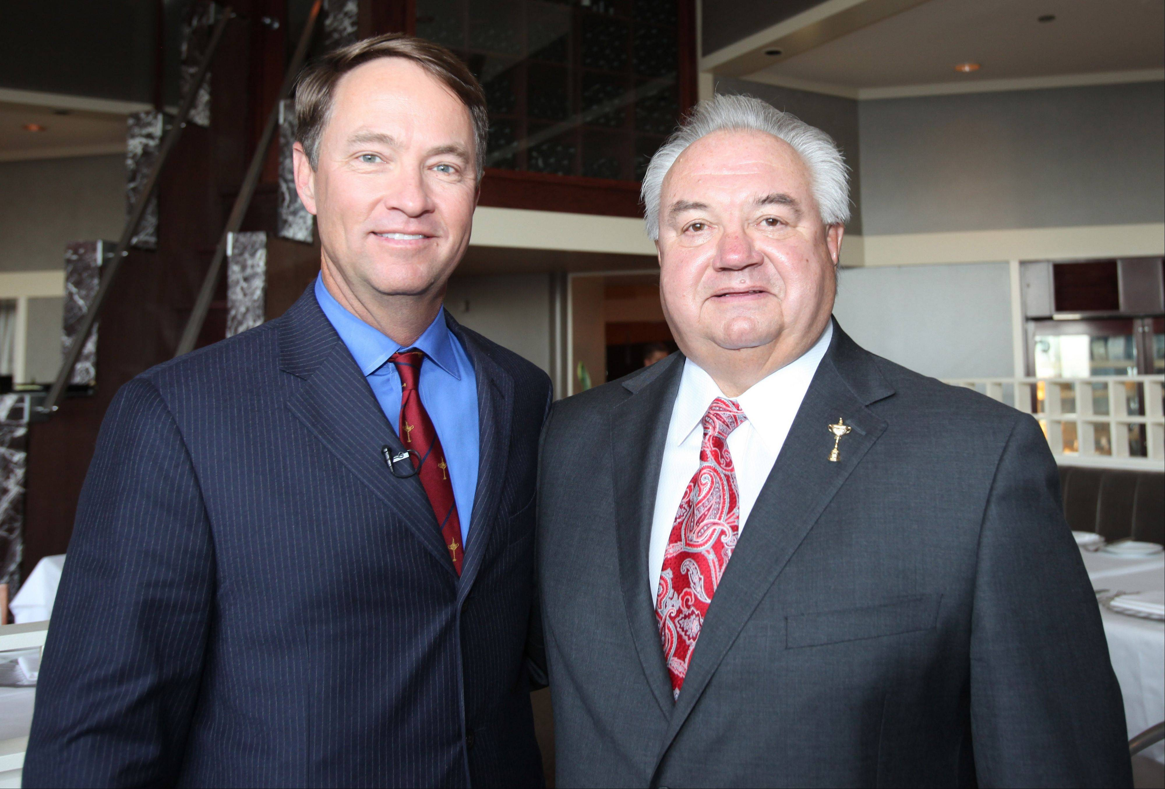 USA Ryder Cup captain Davis Love III with Ryder Cup chairman Don Larson of Medinah Country Club.