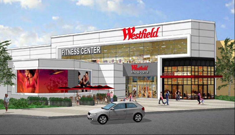 A fitness center is one of the possible new elements of a proposed expansion and renovation at Westfield Hawthorn mall in Vernon Hills.