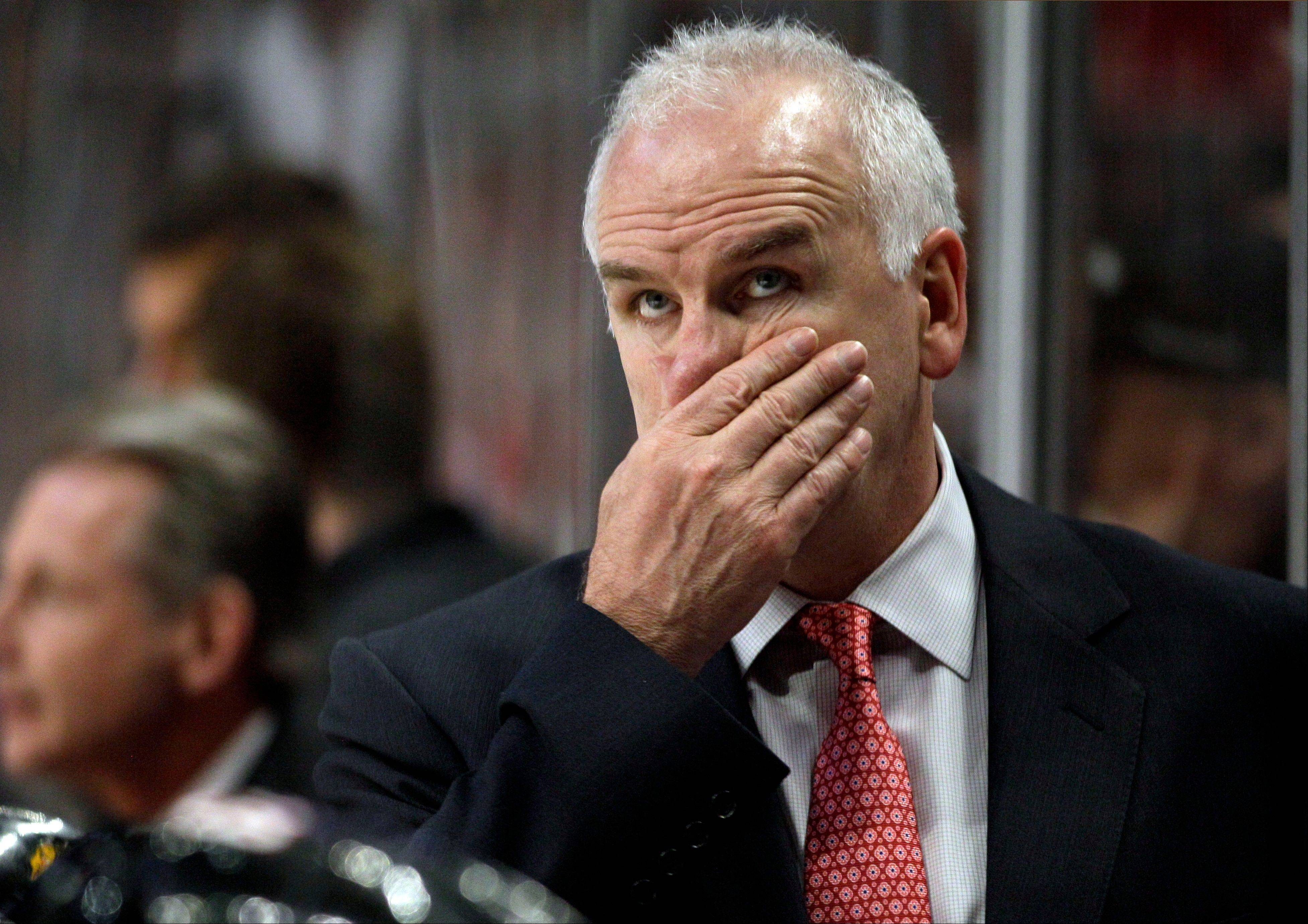 Blackhawks head coach Joel Quenneville was fined $10,000 by the NHL on Thursday for criticizing officials after Game 3.