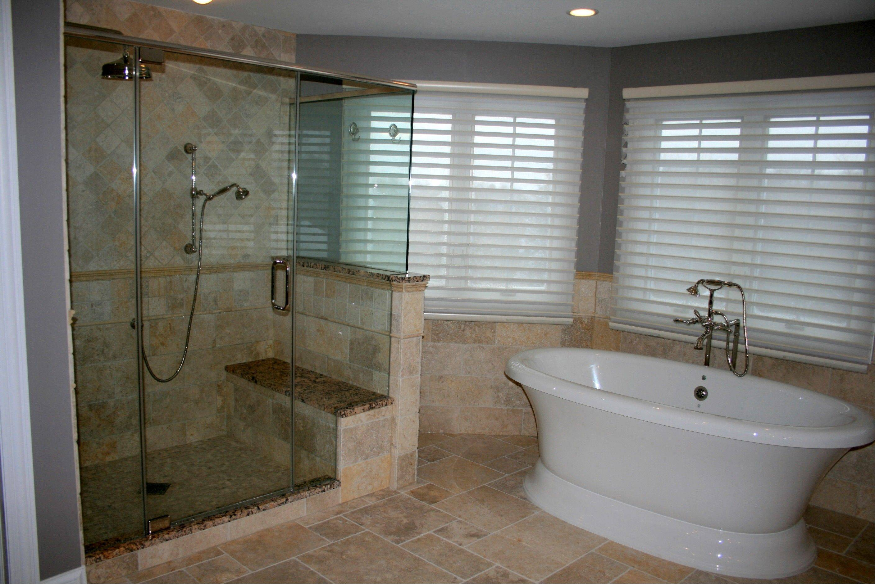 Many homeowners today prefer a stand-alone shower, but will opt for a separate tub if they have the space.