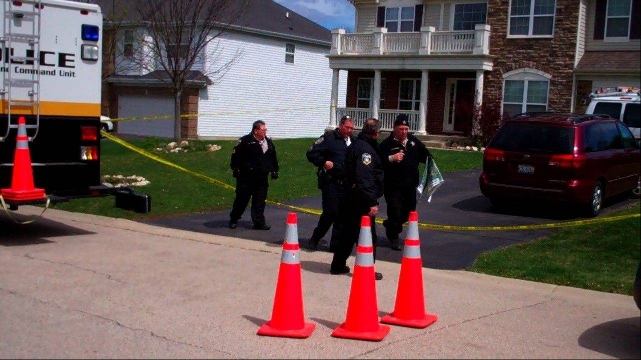 Authorities investigate Sunday in Hoffman Estates after an 11-year-old boy's death Saturday.