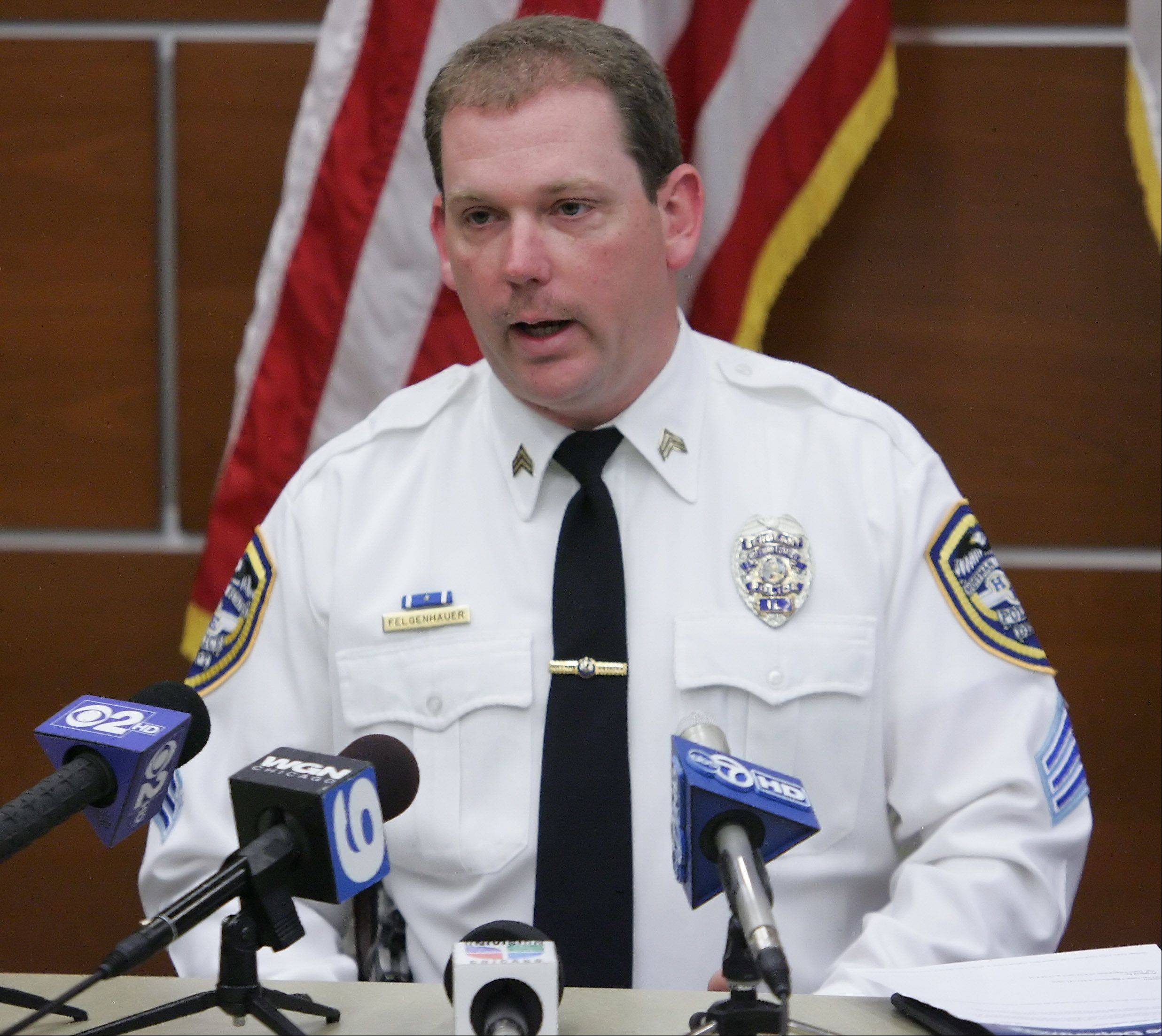 Hoffman Estates Sgt. Darin Felgenhauer on Sunday described the ongoing investigation of an 11-year-old boy found unconscious and not breathing Saturday afternoon near his Hoffman Estates home. The boy died later at St. Alexius Medical Center.