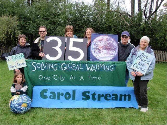 Jan Smith, right, and members of the Carol Stream chapter of the Cool Cities Coalition have supported local initiatives they say will help curb global warming.