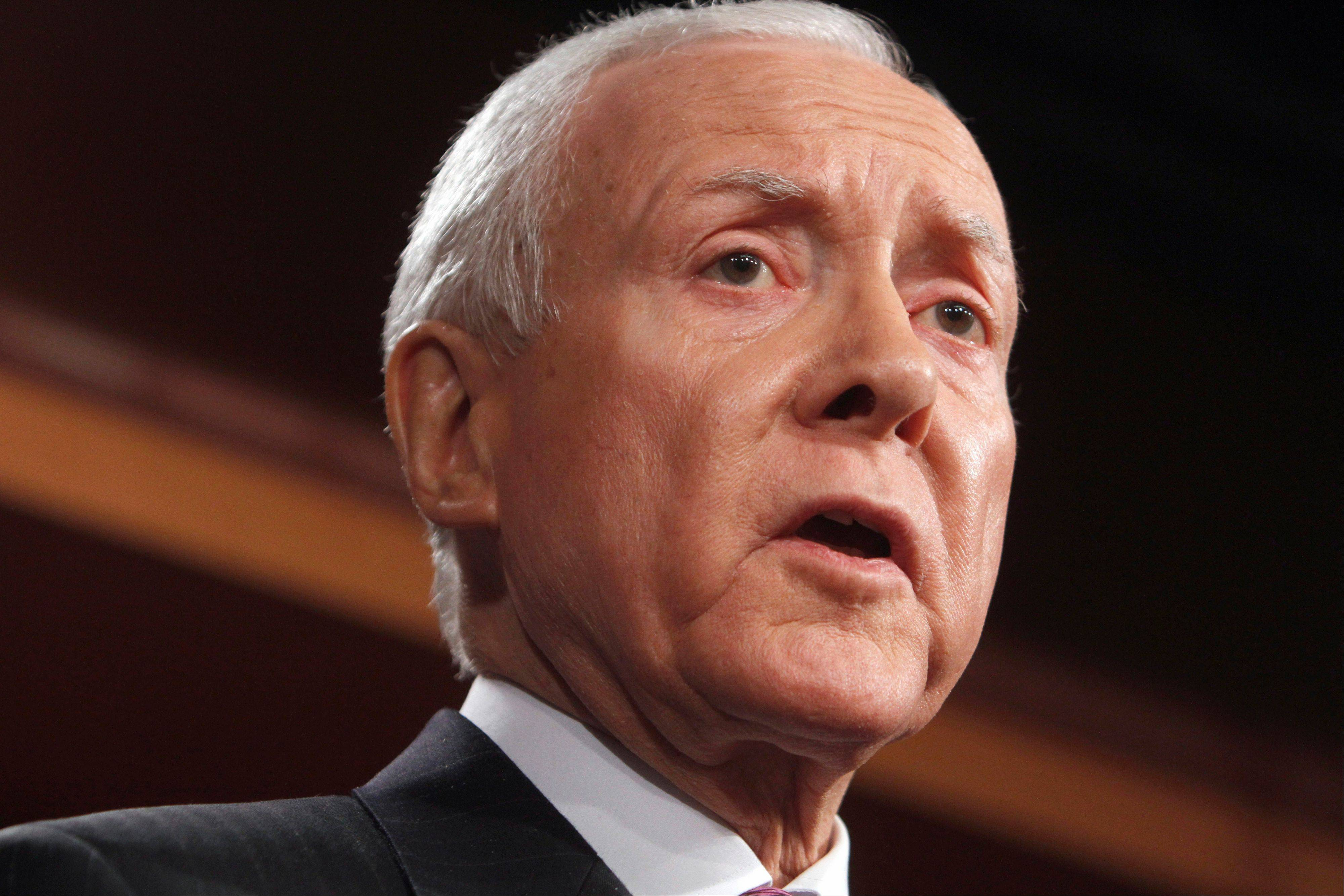 Assoicated PressOrrin Hatch, R-Utah, speaks on Capitol Hill in Washington. In a rebuke to the Obama administration, government auditors are calling for the cancellation of an $8 billion Medicare program that congressional Republicans have criticized as a political ploy.