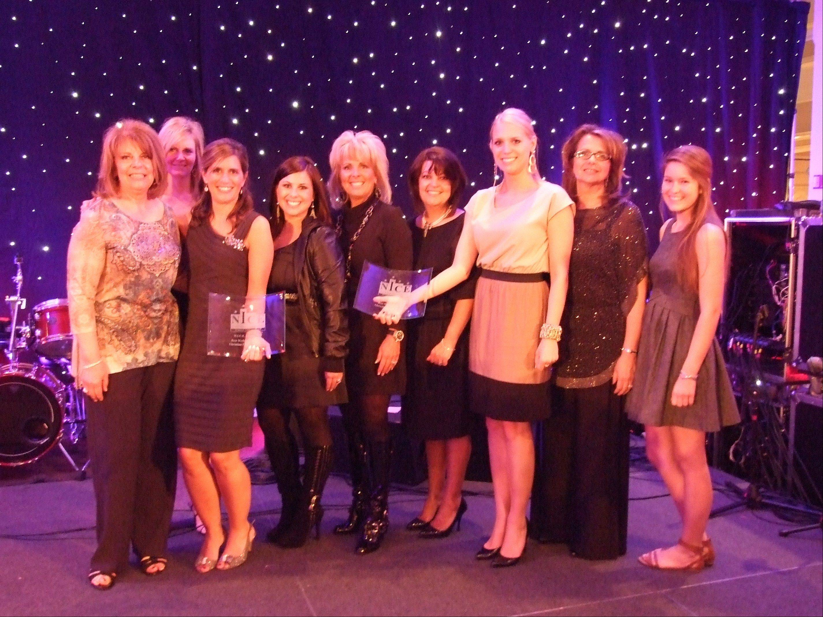 COURTESY OF CHRISTINA CURRIE EVENTS Award winners for the Christina Currie Events Inc. in Inverness include, from left, Char Miller, Beth Bauer, Christina Currie, Britini Wilkens (the bride), Michelle Fawcett (mother of the bride), Susan Buerckholtz, Lauren Debrauwere, Diana Raedel and Jessica Burke.