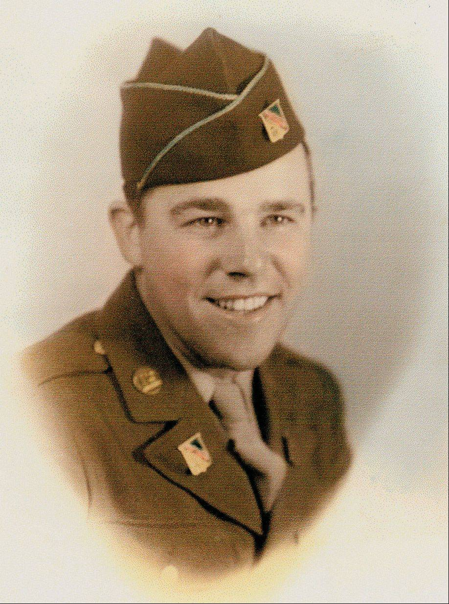 Spencer Loomis of Lake Zurich when he was in the Army in 1944.