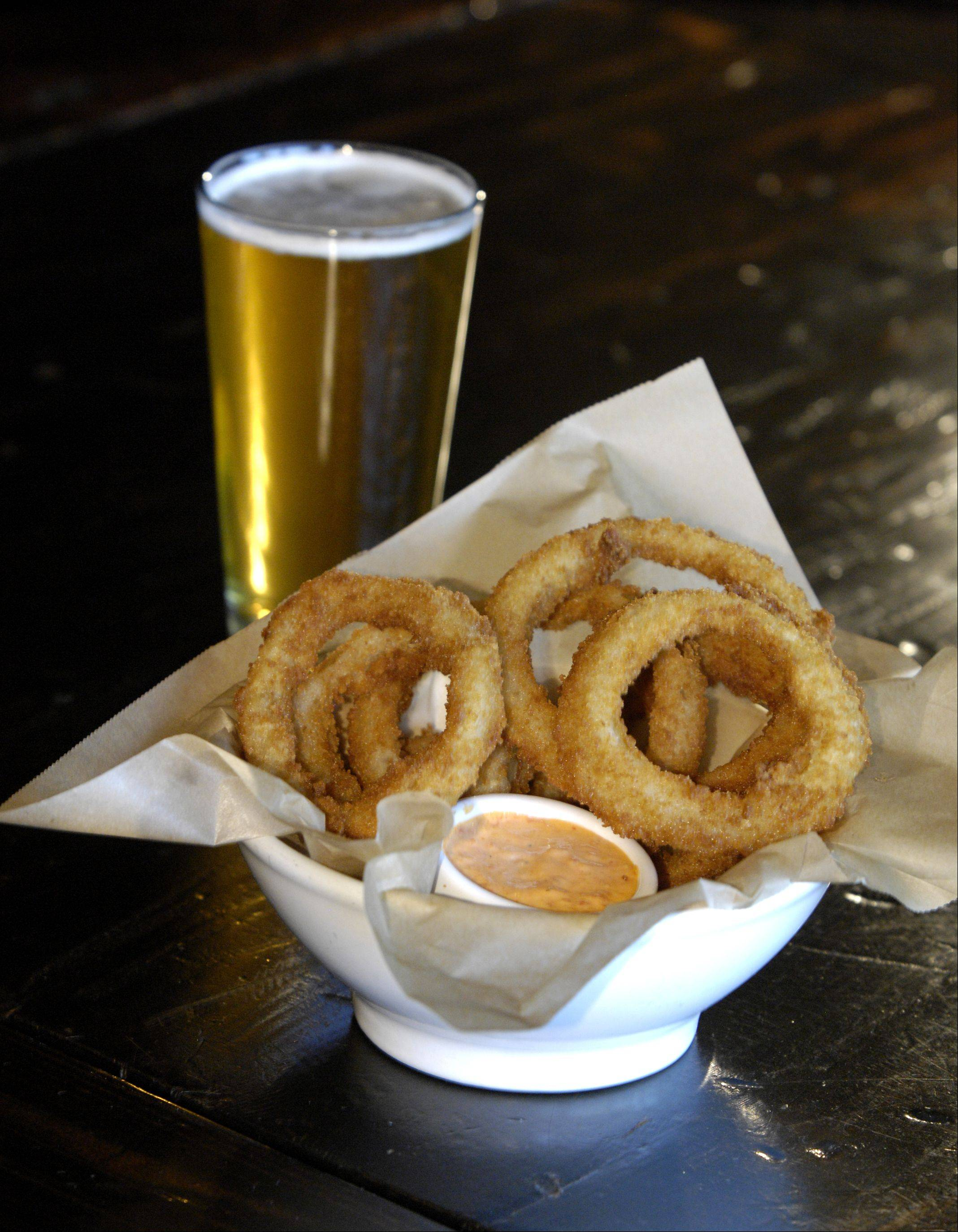 Goose Island Summertime is the beer of choice for Rockit Burger Bar's beer-battered onion rings.