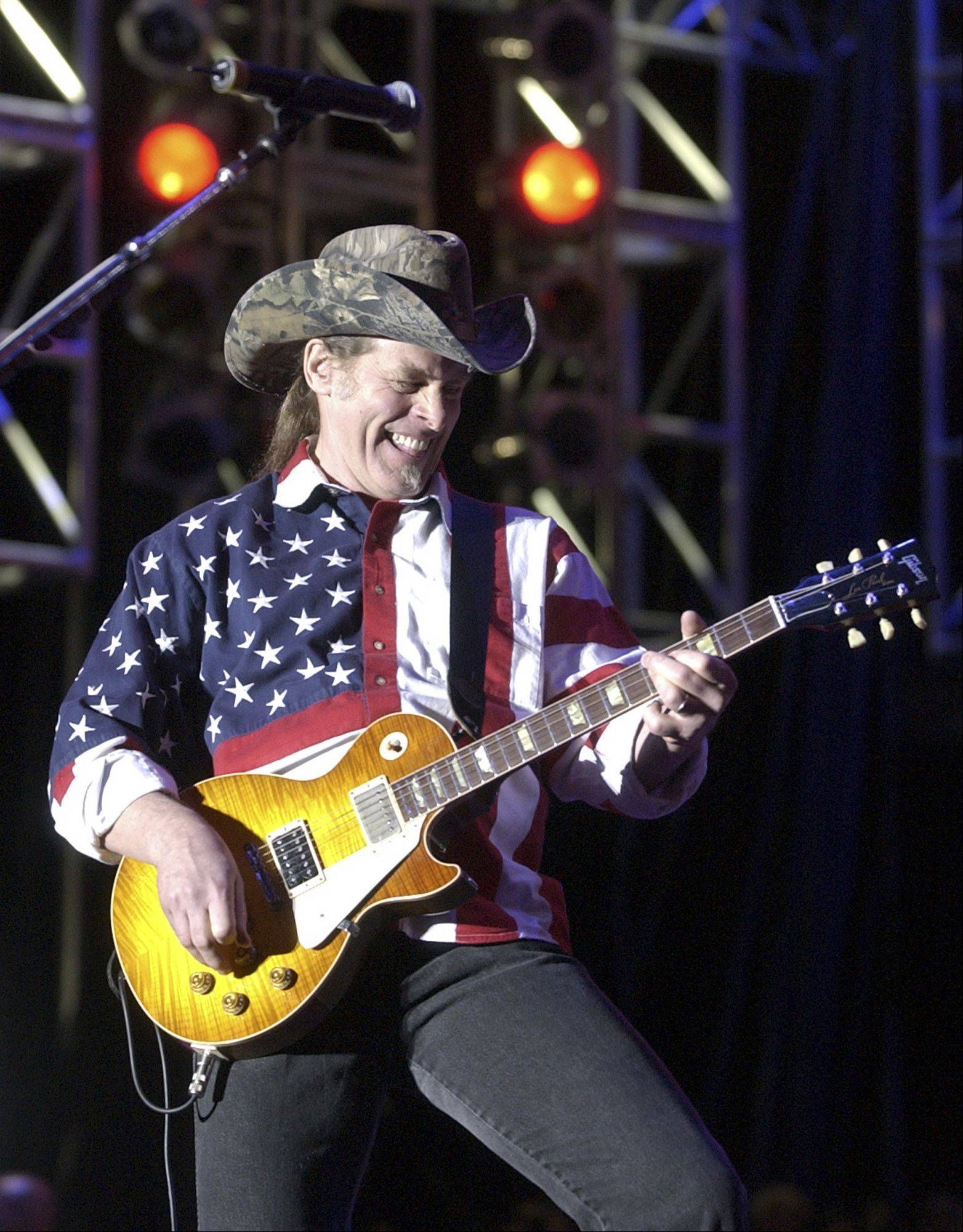 Ted Nugent performs in 2005 at his free Rockin' The Corps concert held at Camp Pendleton Marine Corps Base in San Diego.