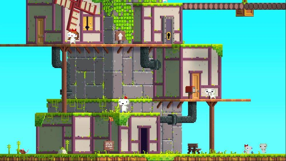 "Grab a friend to help you solve the brainteasers in ""Fez."""