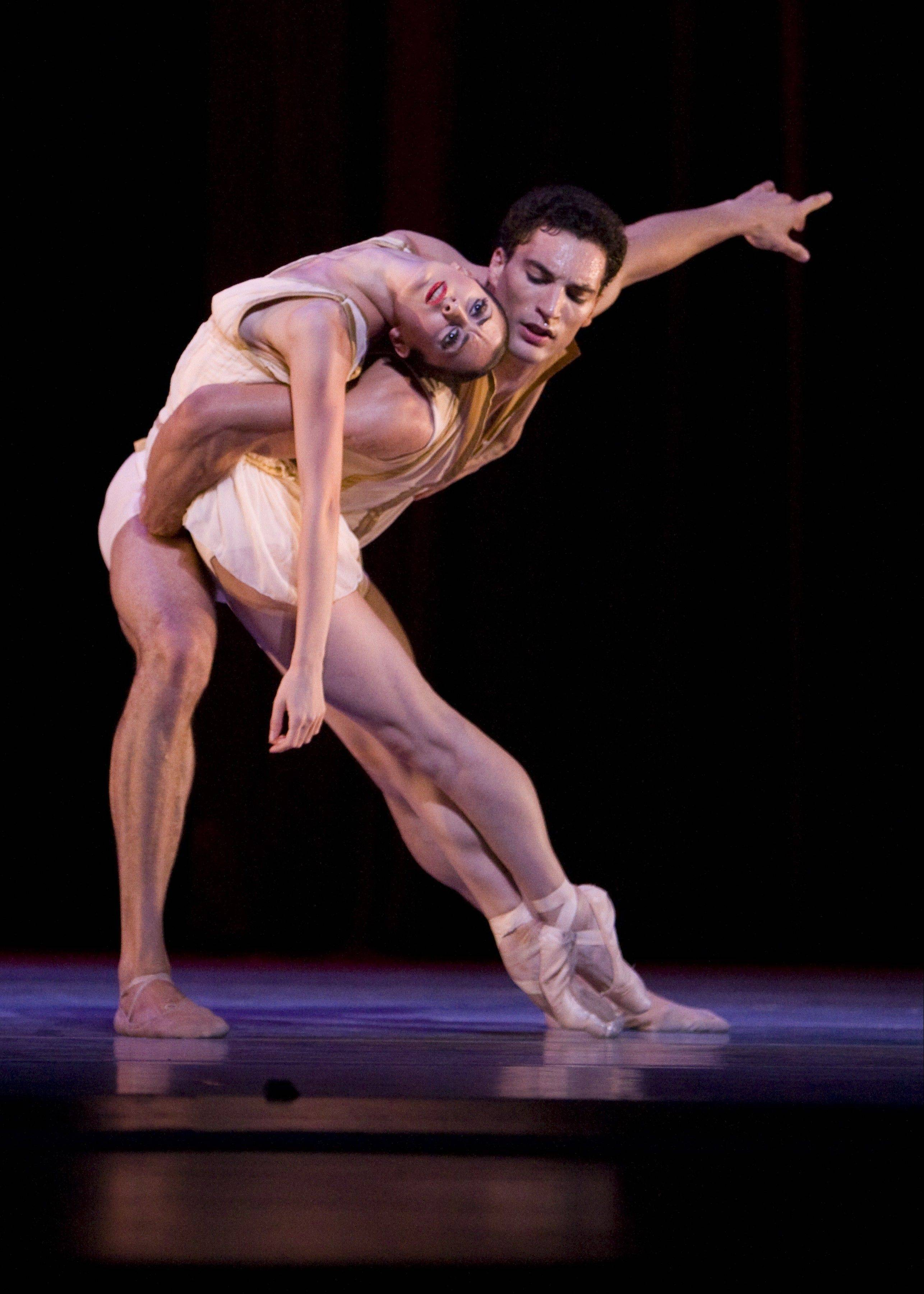 "Fabrice Calmels and Victoria Jaiani dance in Edwaard Liang's 2008 piece ""Age of Innocence,"" which is being revived as part of the Joffrey Ballet's ""Spring Desire"" repertory concert at the Auditorium Theatre of Roosevelt University in Chicago."