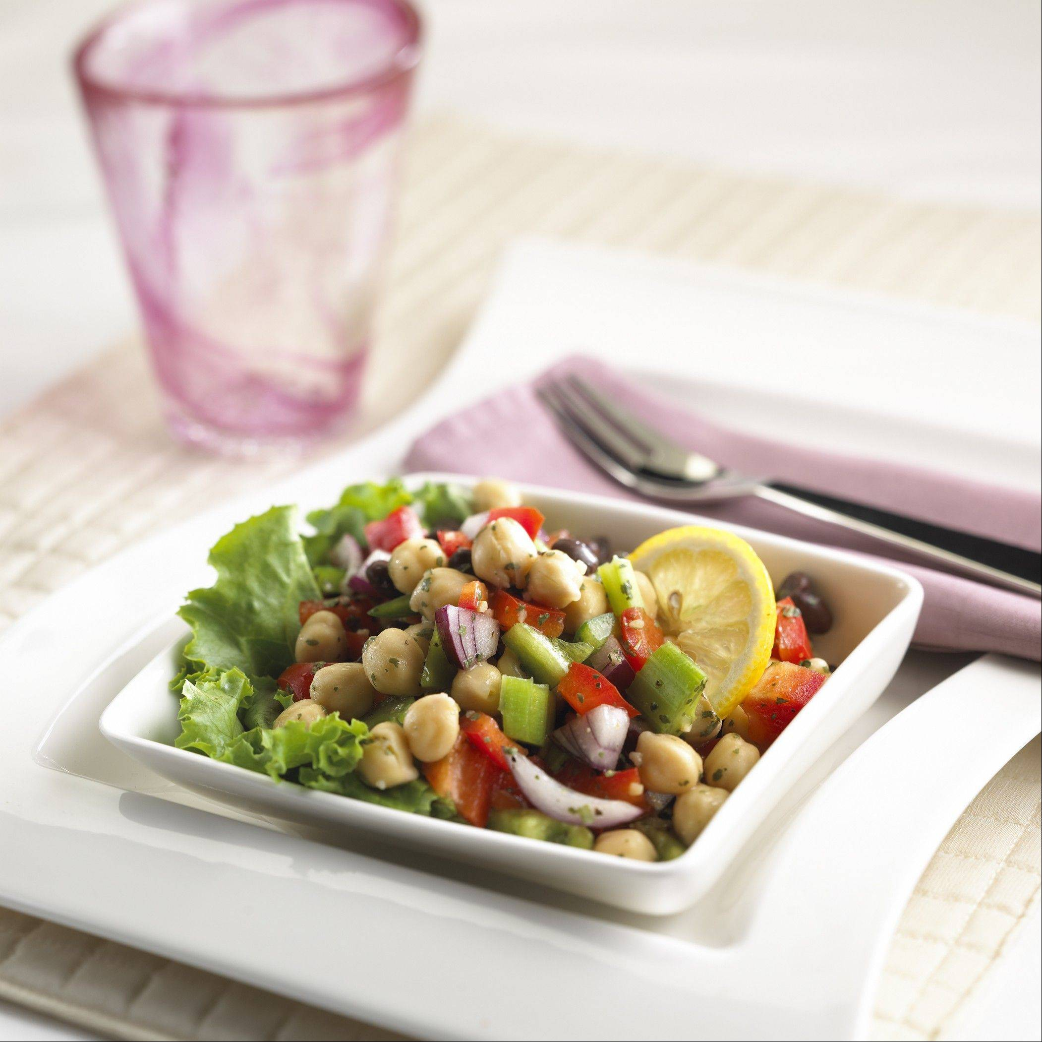 This low-fat, colorful salad is the perfect accompaniment to grilled chicken, steak or burgers.