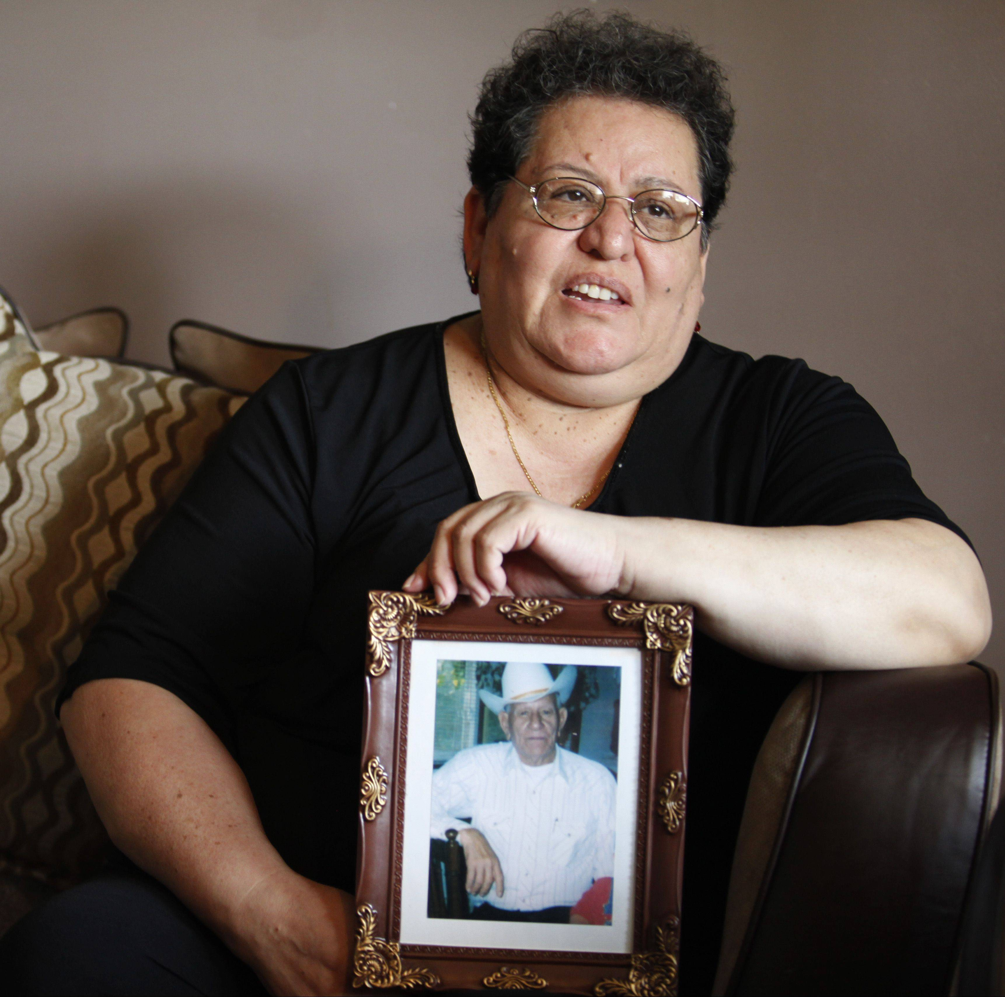 Maria Prieto, of Elgin, lost her husband, Andres, shown in the picture, last fall. A social worker and chaplain joined nurses from VITAS Innovative Hospice Care to help the Prieto family during Andres' final months.