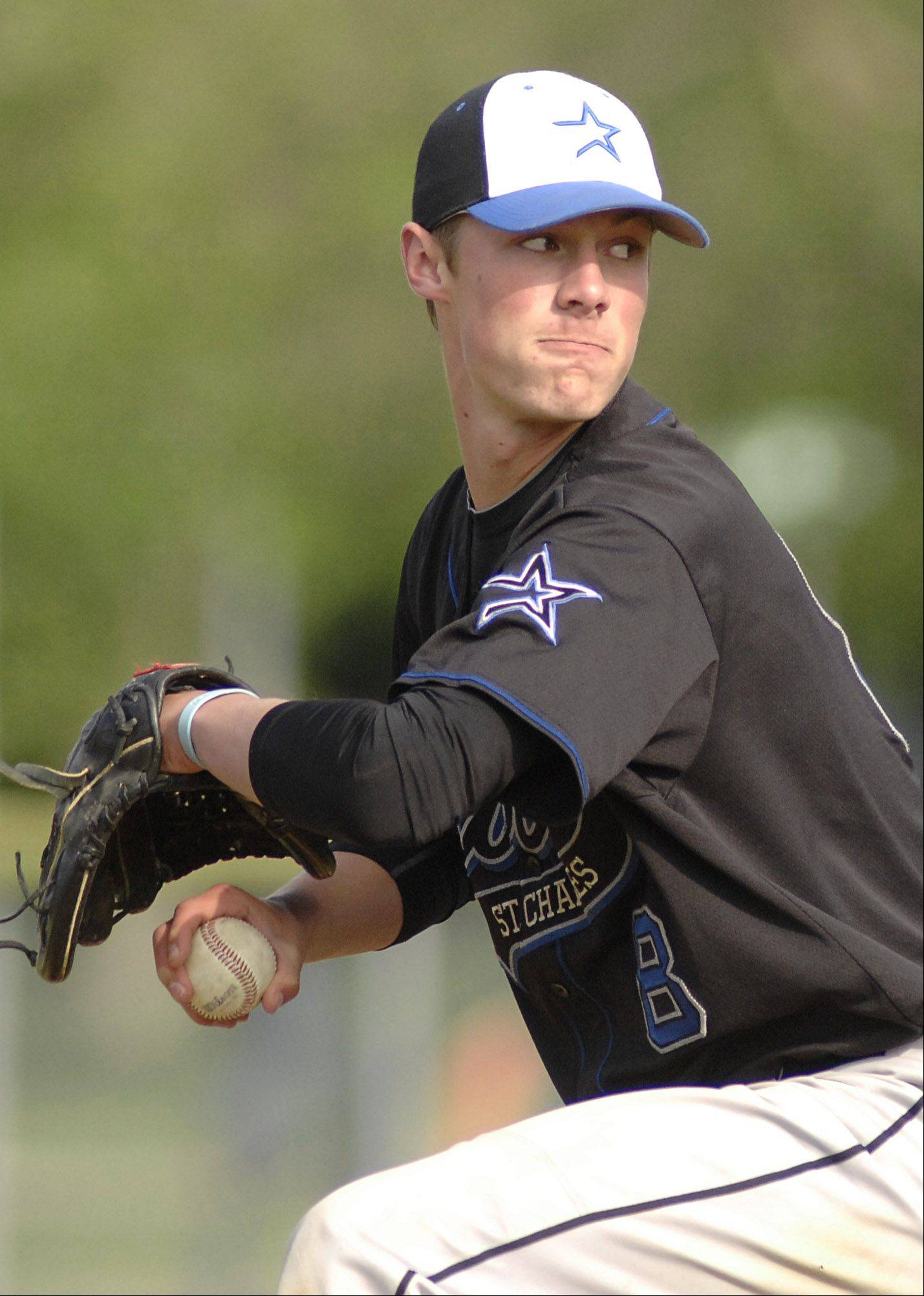 St. Charles North pitcher Jake Johansmeier on Thursday, April 26. 8