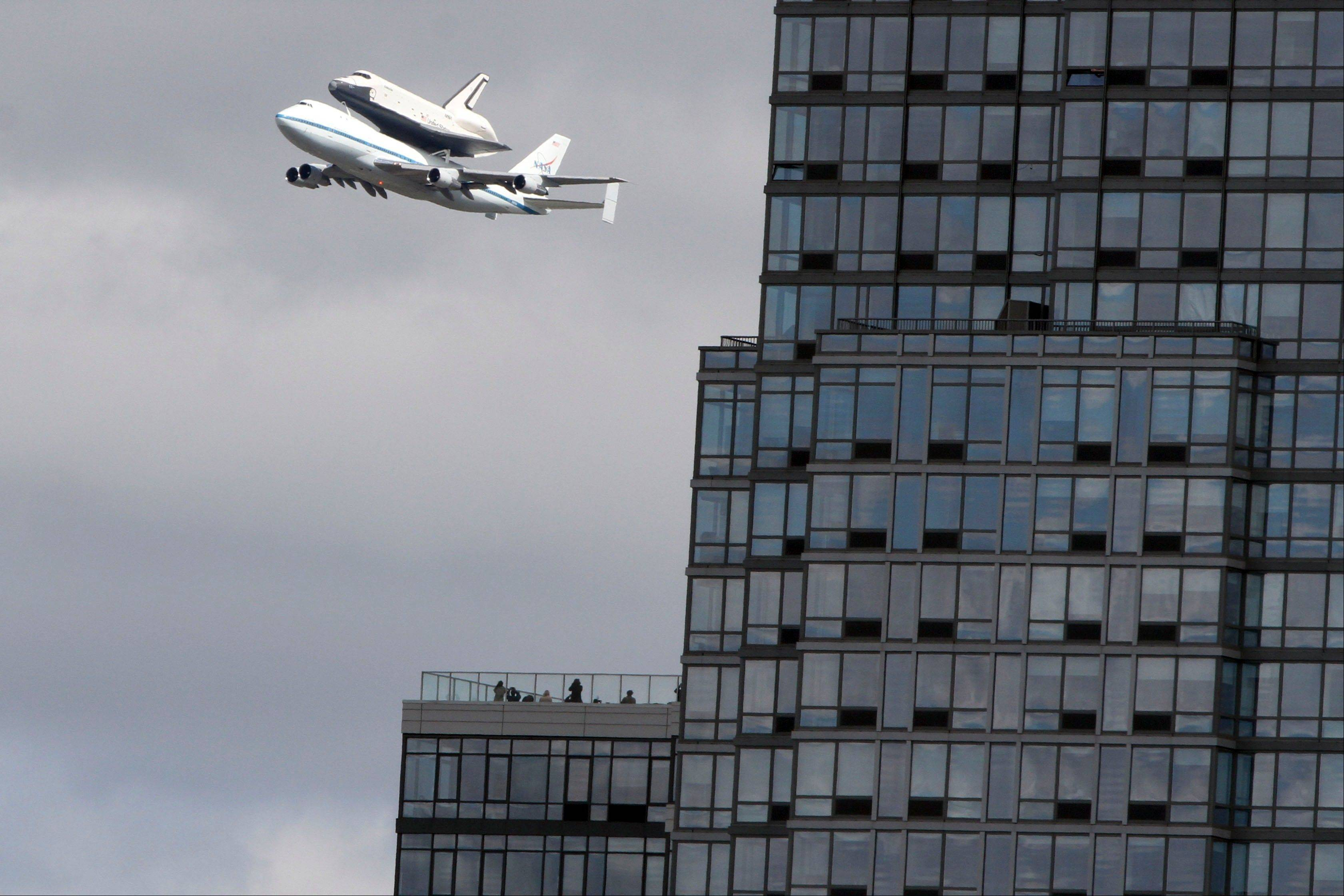 Space shuttle Enterprise arrives at NY's JFK