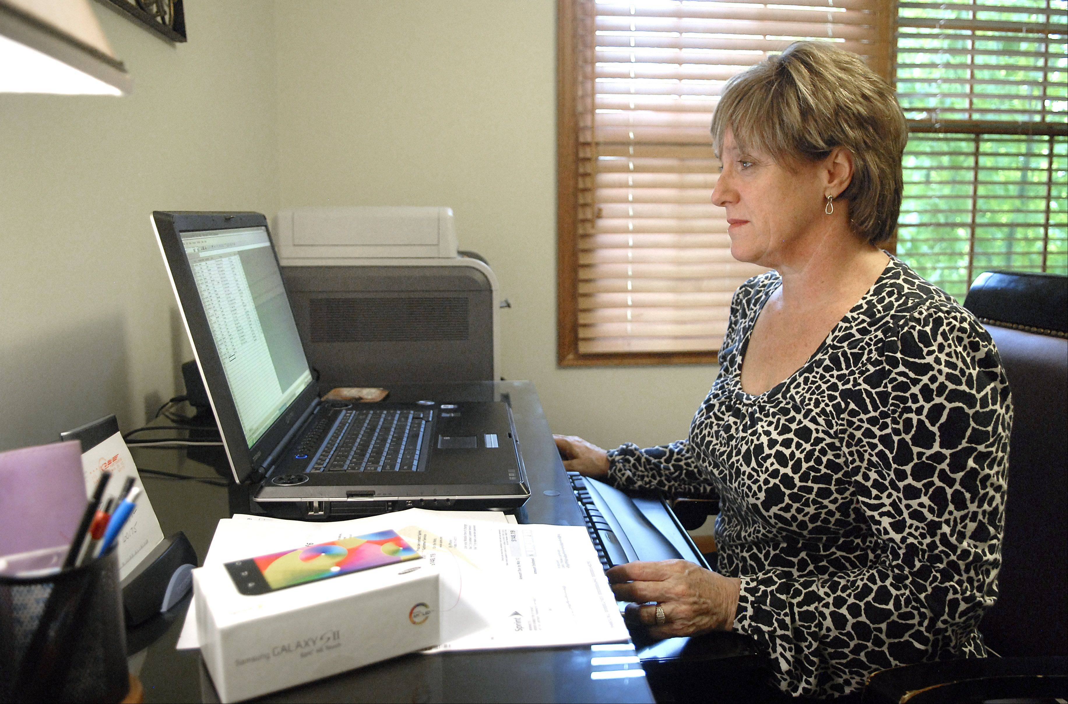 St. Charles resident Deb Conn couldn't get any Sprint service in her home office earlier this month, which the company attributes to work on a network upgrade.
