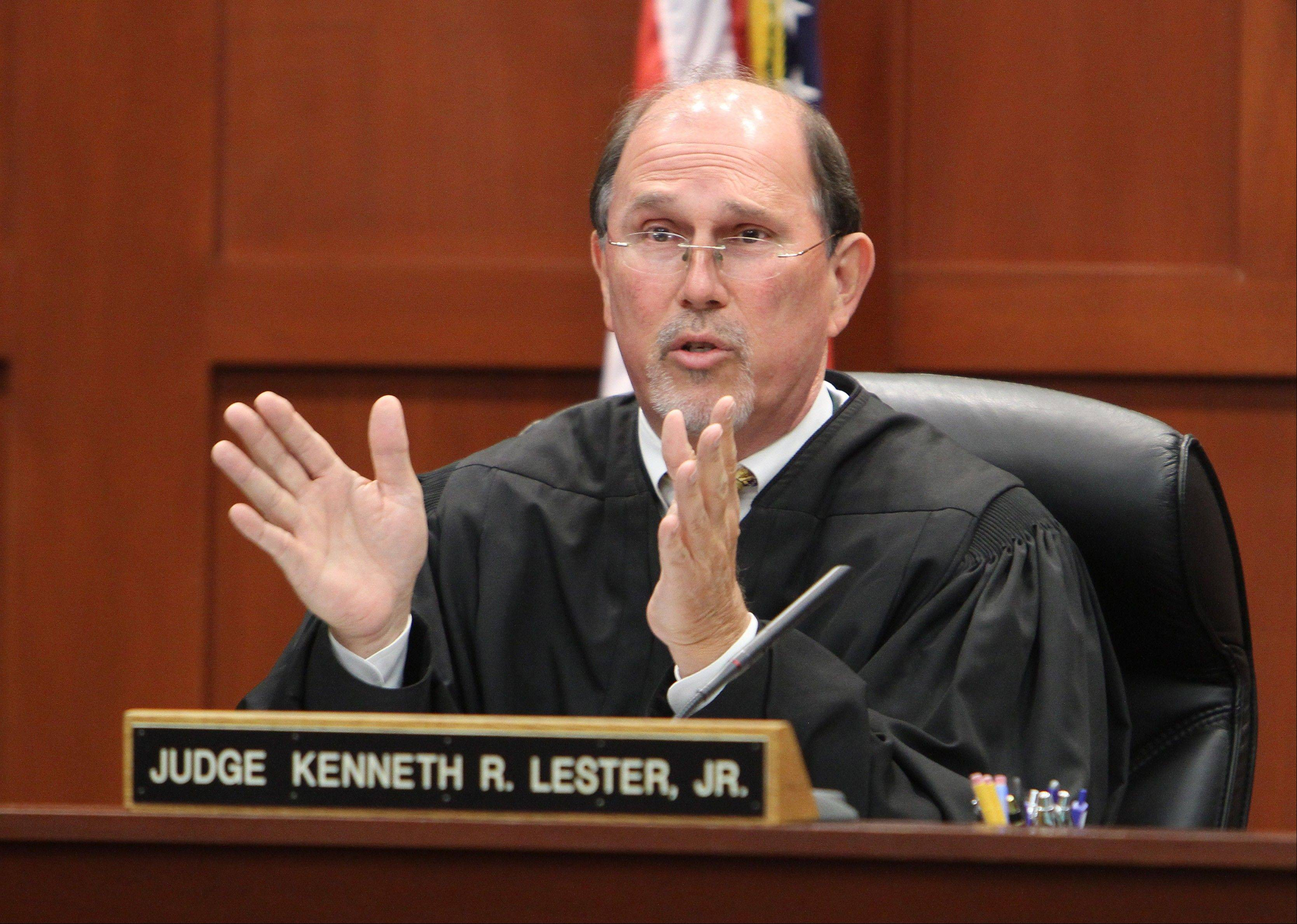 Judge Kenneth Lester, Jr. speaks Friday during a hearing in the trial of George Zimmerman.