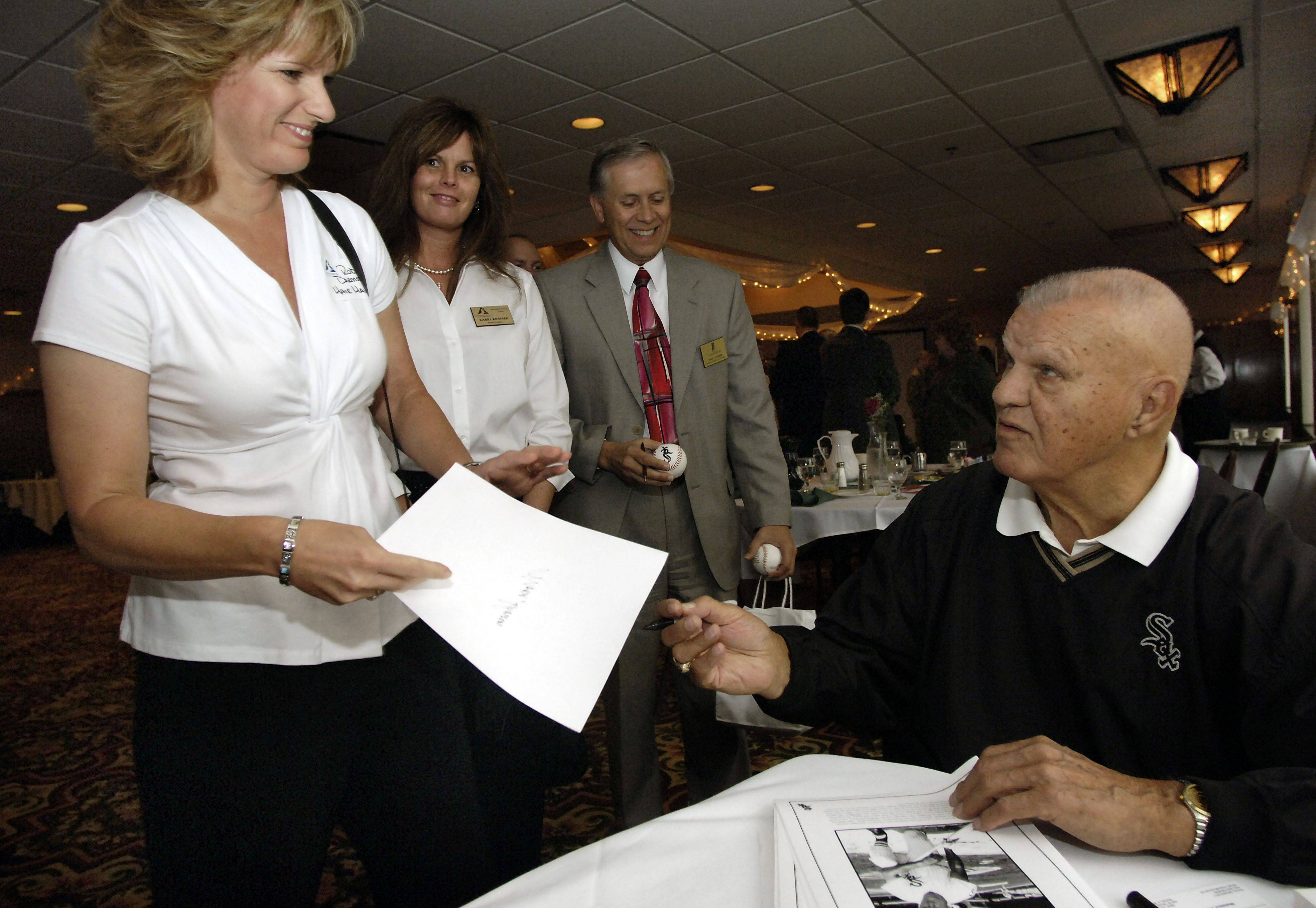 "In 2006, Bill ""Moose"" Skowron told tales of his colorful past in baseball to the Schaumburg Business Association breakfast meeting and later signed pictures and baseballs, including for Robin Darmstadt of Arlington Heights."