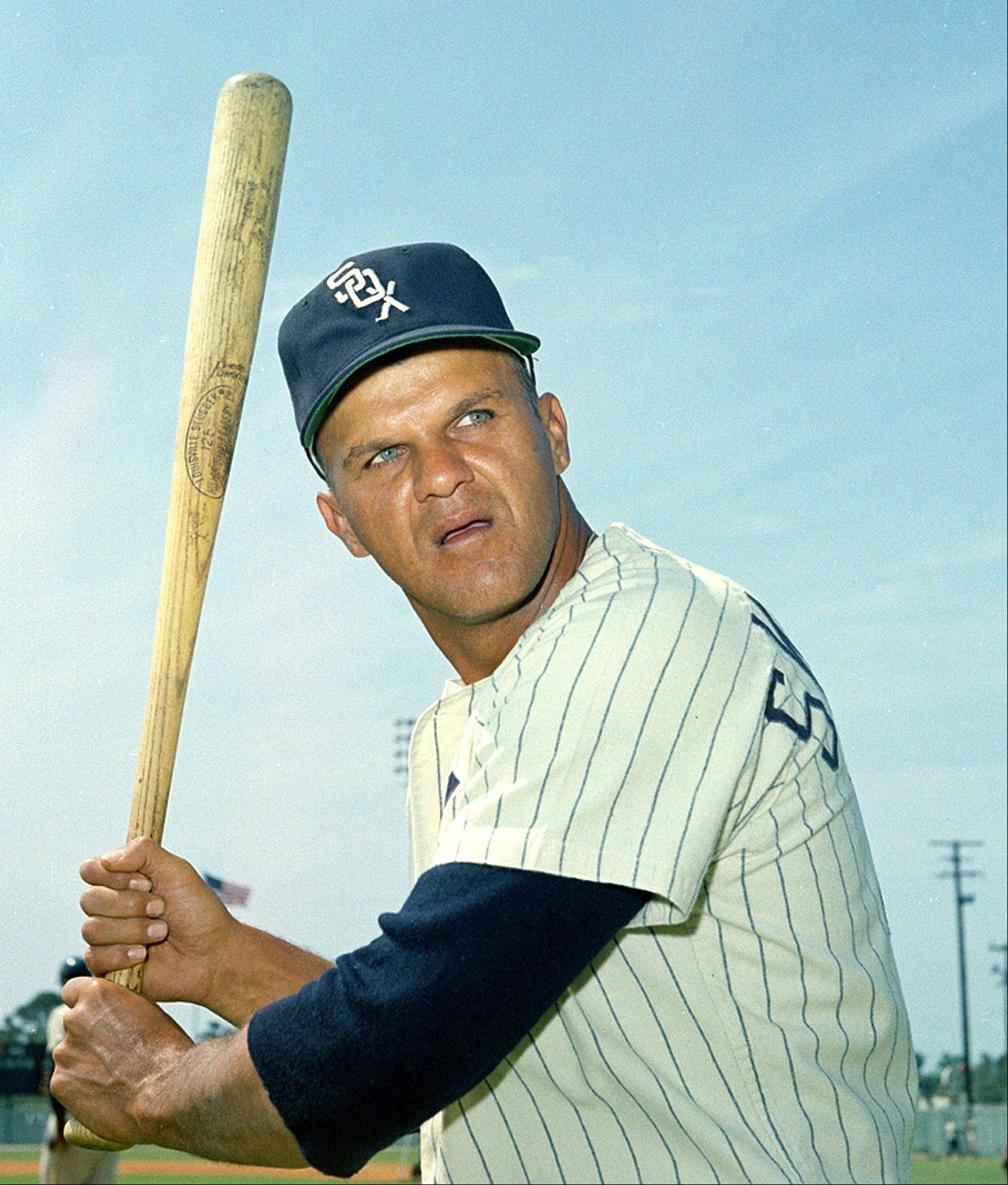 In this 1967, file photo, Bill Skowron of the Chicago White Sox baseball club is shown in action pose. Skowron, a four-time All-Star first baseman who helped the New Yankees win four World Series titles in the 1950s and 1960s, died Friday, April 27, 2012, at Northwest Community Hospital in Arlington Heights, Ill. He was 81. He also played for the Los Angeles Dodgers, the Washington Senators, the White Sox and the California Angels.