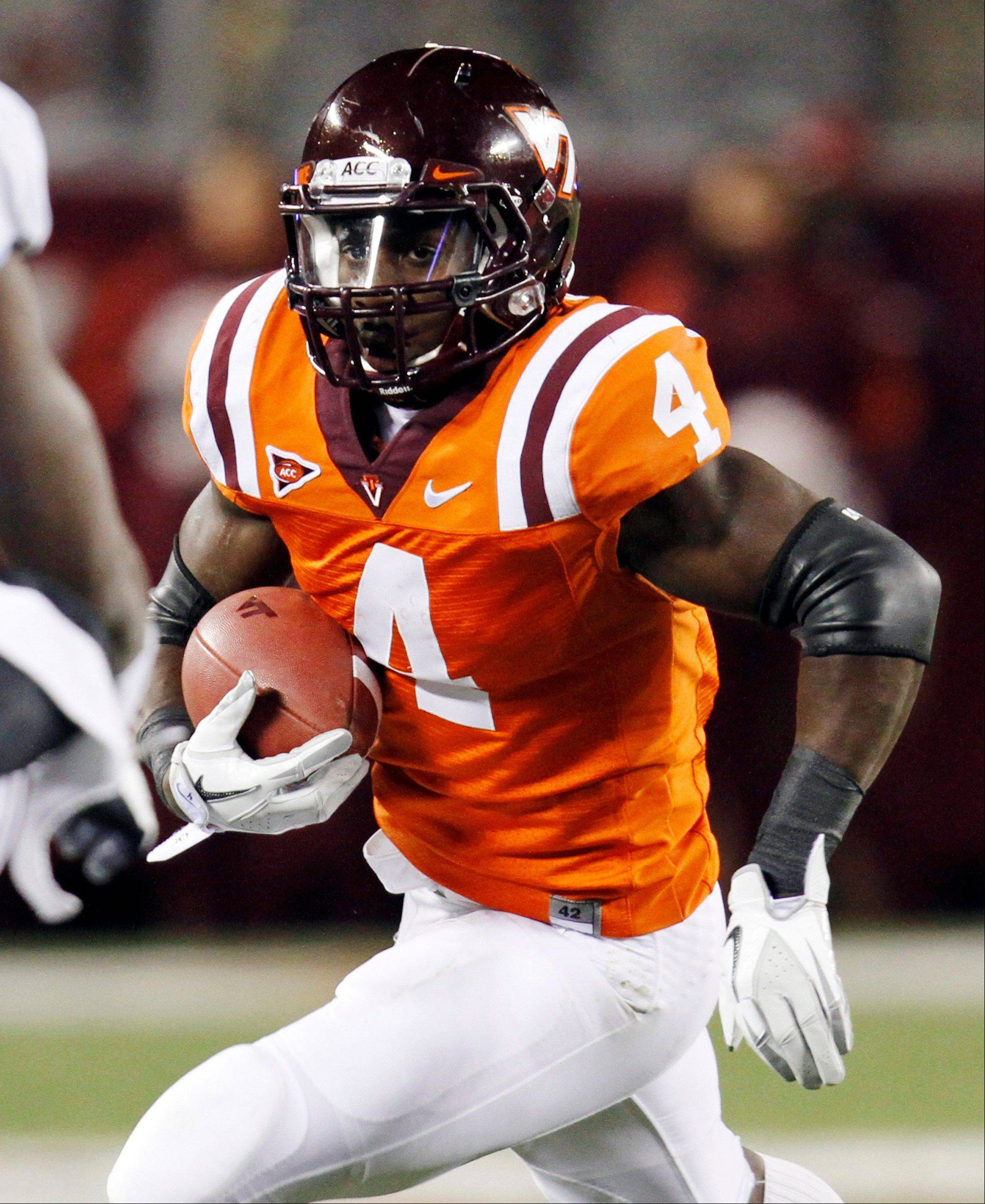 Virginia Tech running back David Wilson was selected as the 32nd pick overall by the New York Giants in the first round of the NFL Draft at Radio City Music Hall.