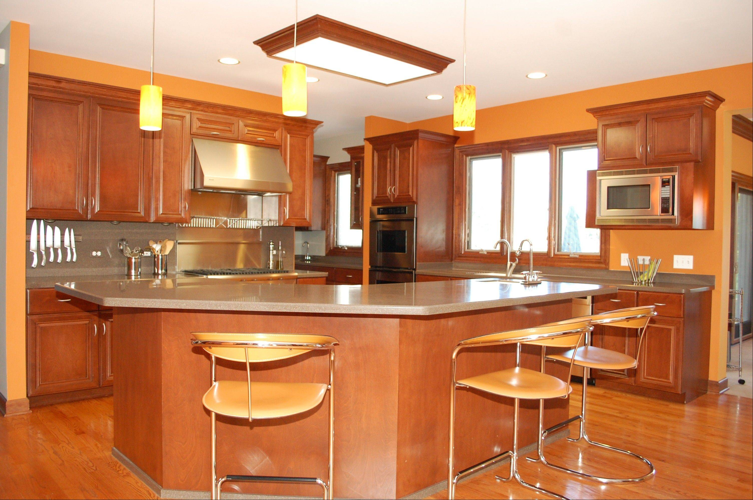 The kitchen features many high-end amenities.