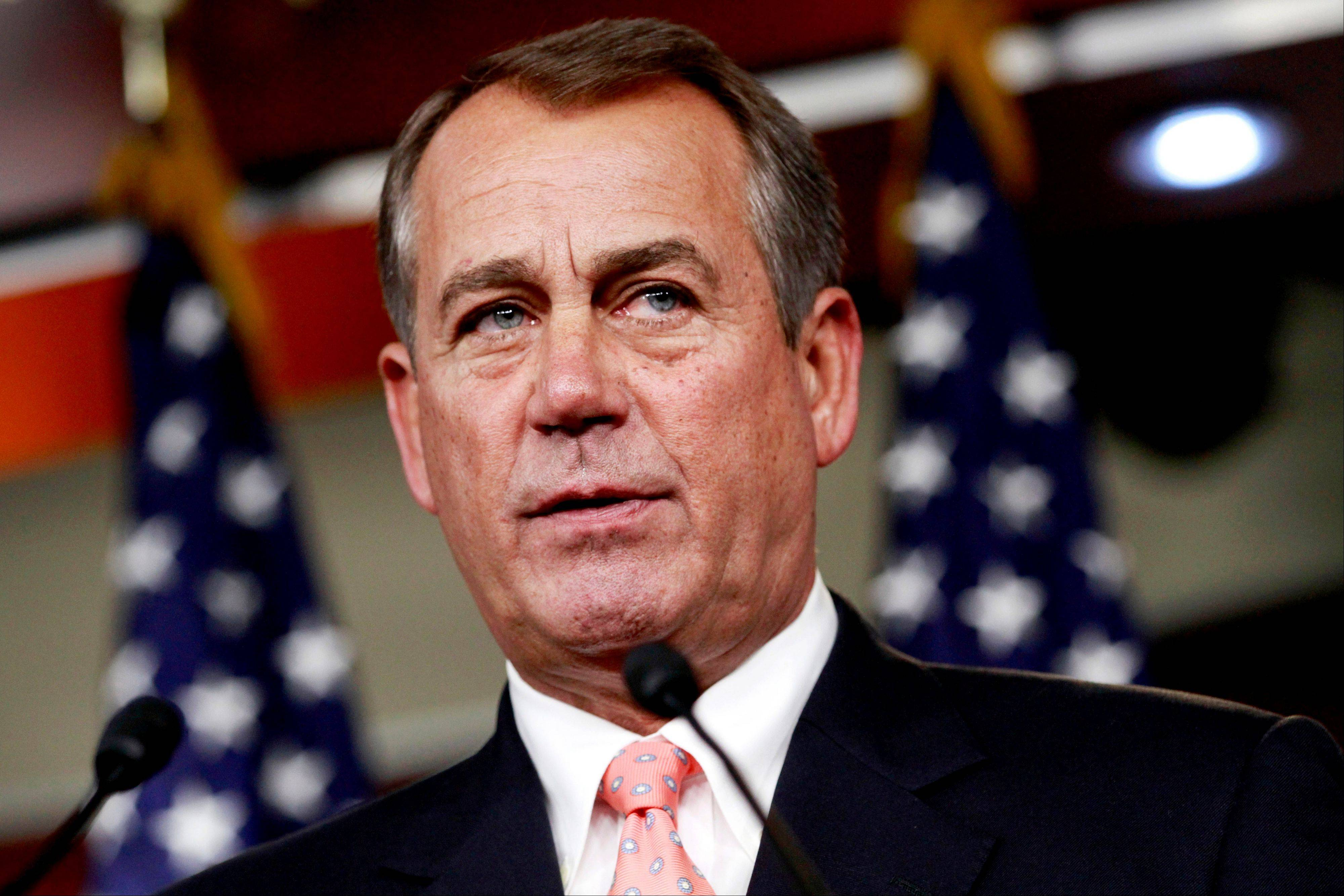 House Speaker John Boehner during his weekly news conference on Capitol Hill in Washington last week. Republicans ignored a veto threat and overcame a rebellion by party conservatives to push a bill through the House Friday keeping interest rates on millions of federal student loans from doubling this summer.
