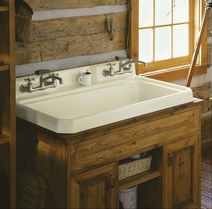 Utility Sink With Countertop.Ask The Plumber Going Upscale With A Laundry Sink