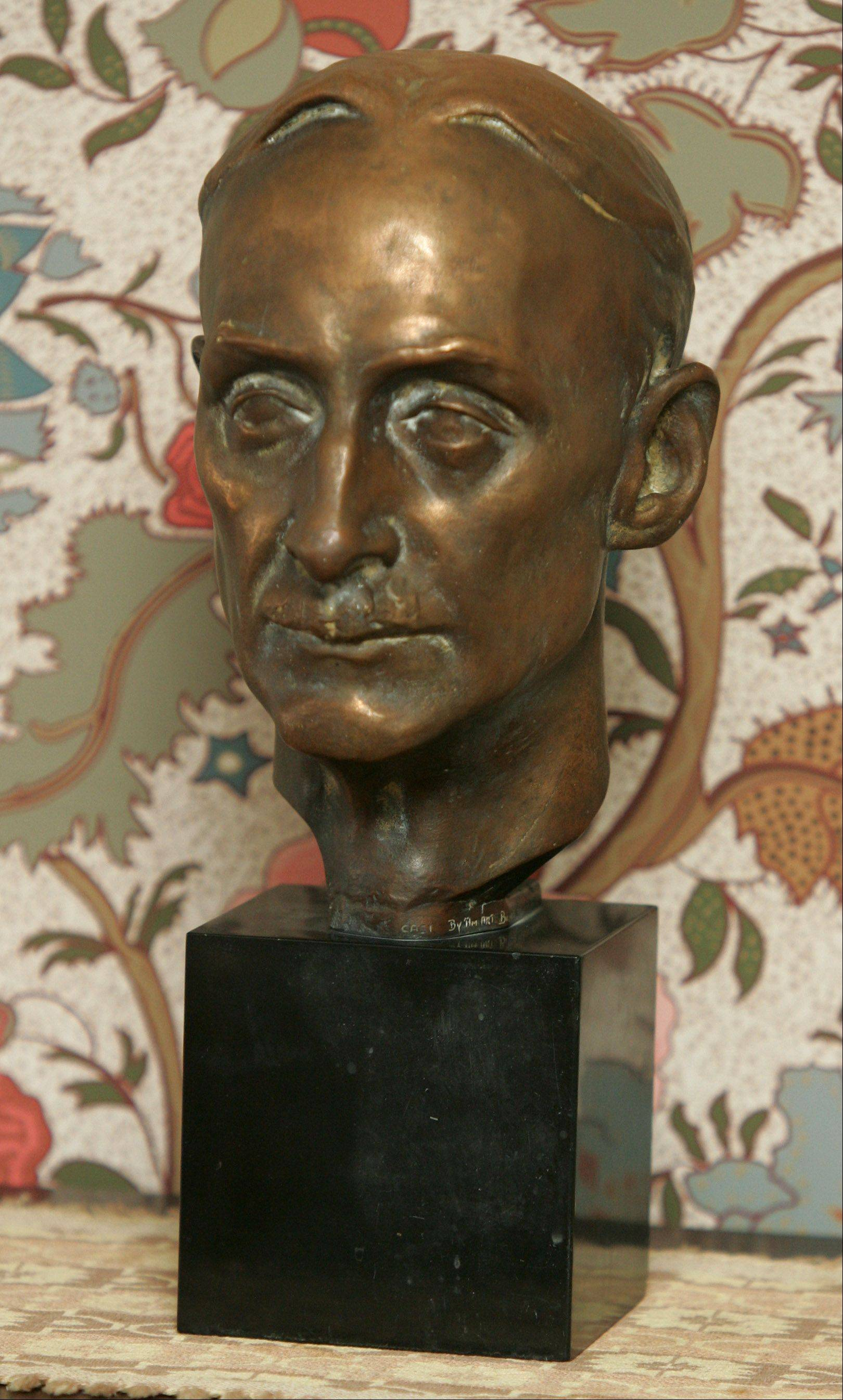 "Sylvia Shaw Judson, known for her statue Bird Girl, made this bust of her father, architect Howard Van Doren Shaw. Bird Girl is on the cover of the 1994 novel ""Midnight in the Garden of Good and Evil."""