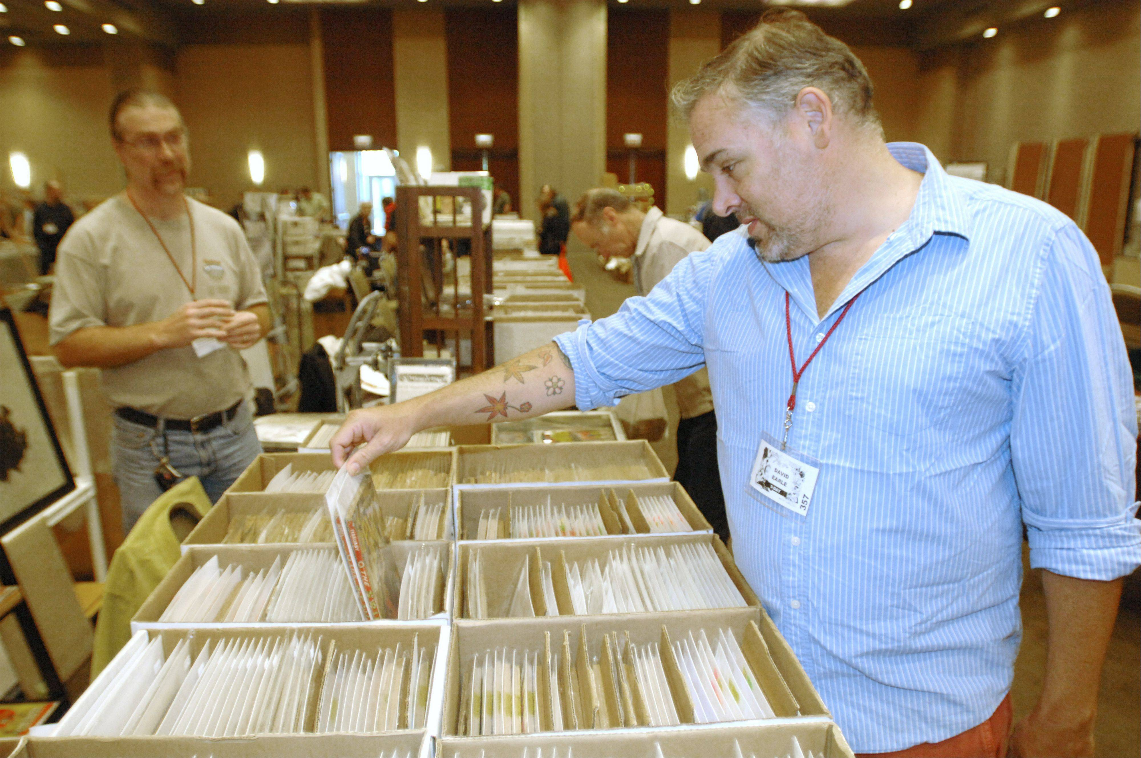 David Earle traveled from Florida for the Windy City Pulp and Paper Convention in Lombard this weekend. The event drew hundreds of collectors of classic pulp-fiction magazines.